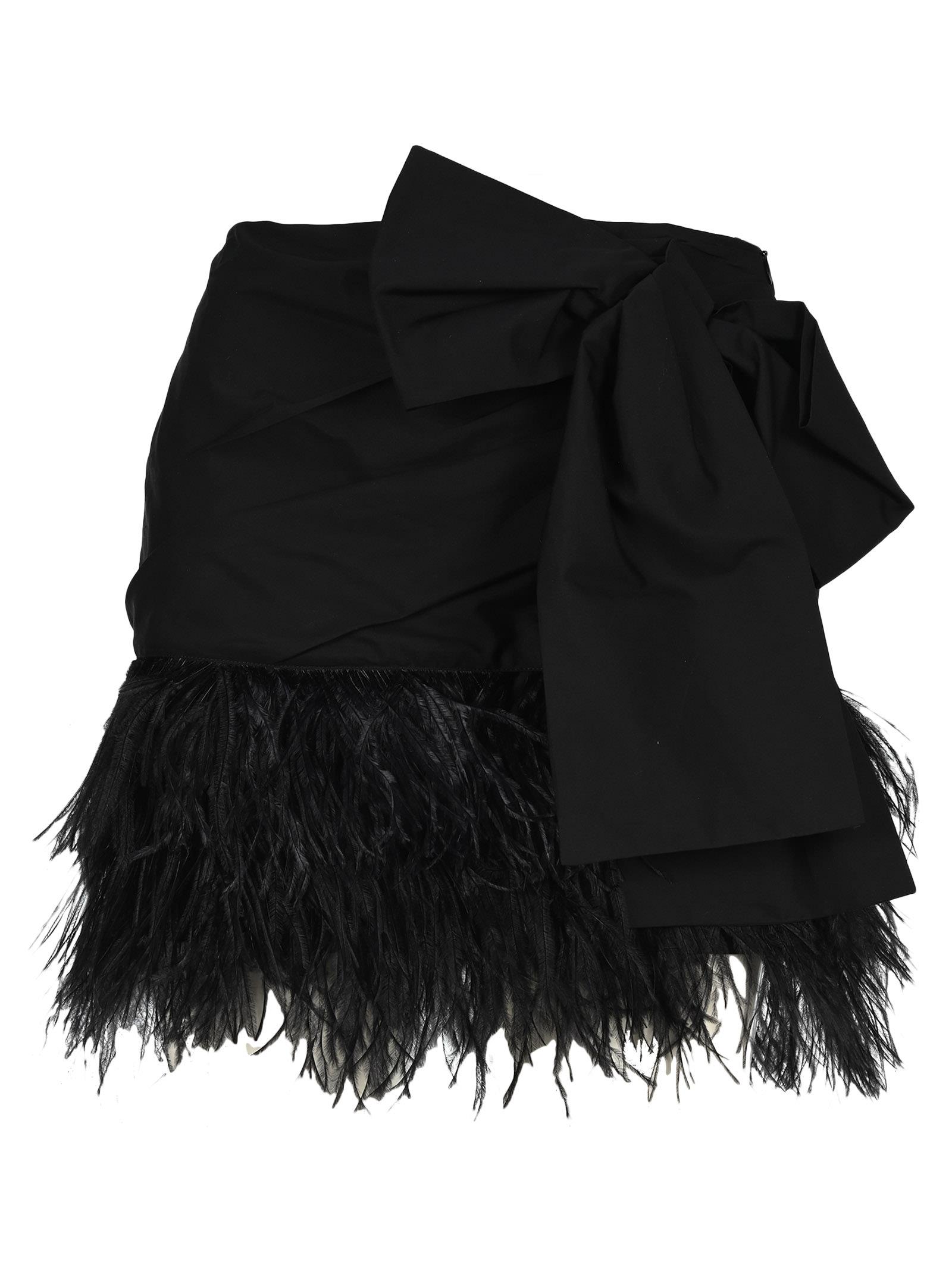 N21 Bow Mini Skirt
