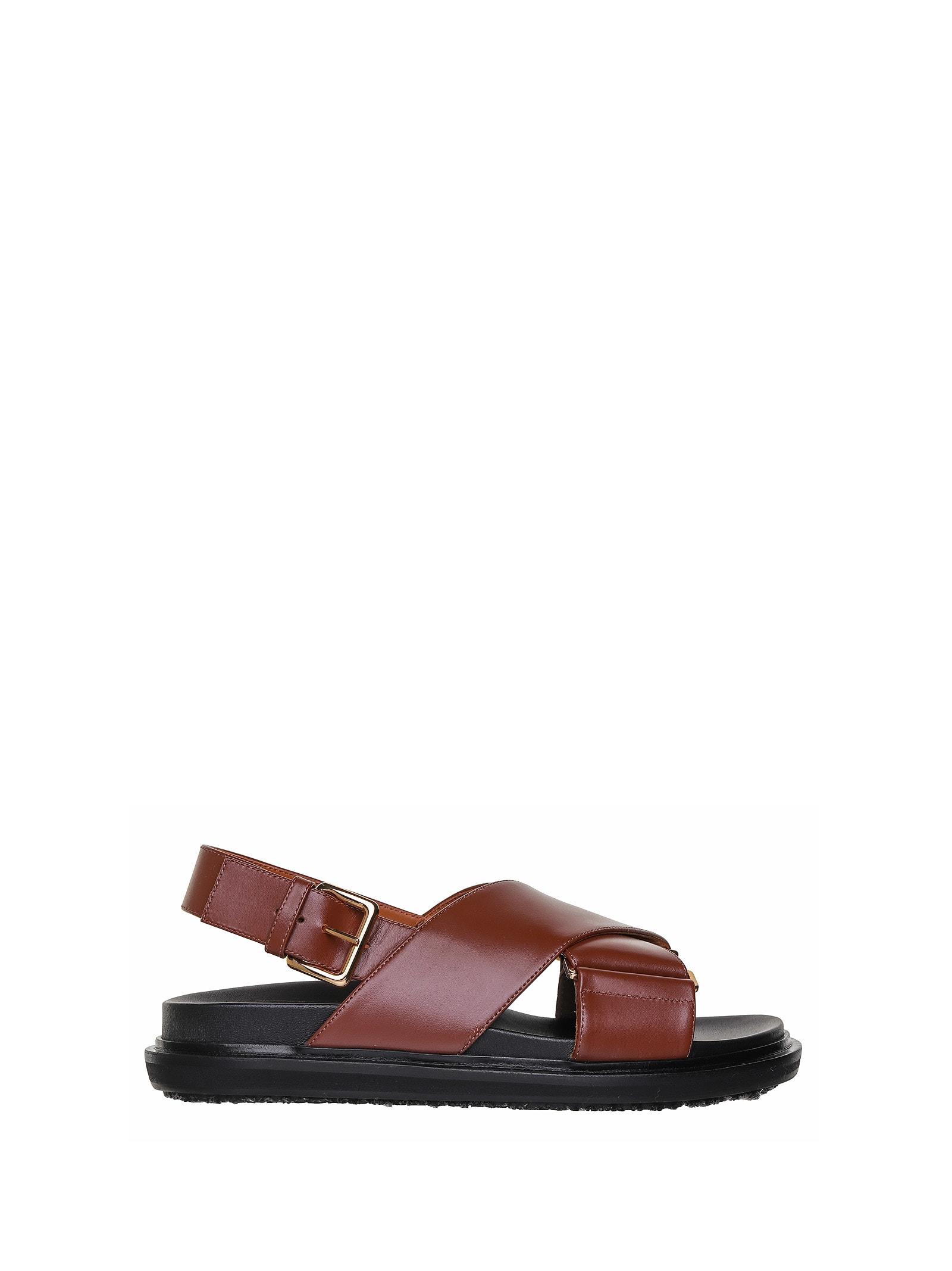 Marni Marni Brown Fussbett Sandals