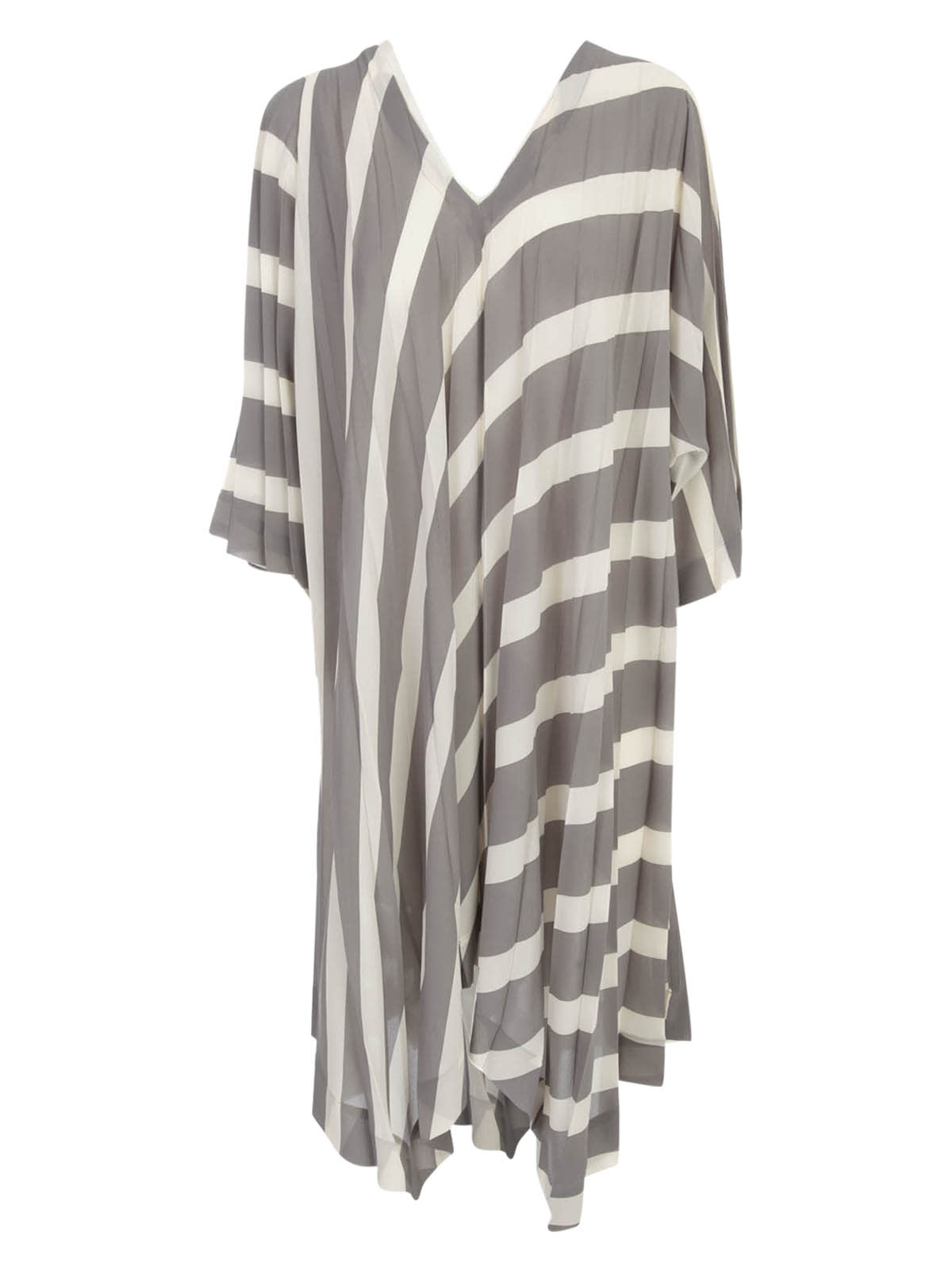 Buy Issey Miyake Pleated Tunic Dress 3/4s V Neck online, shop Issey Miyake with free shipping