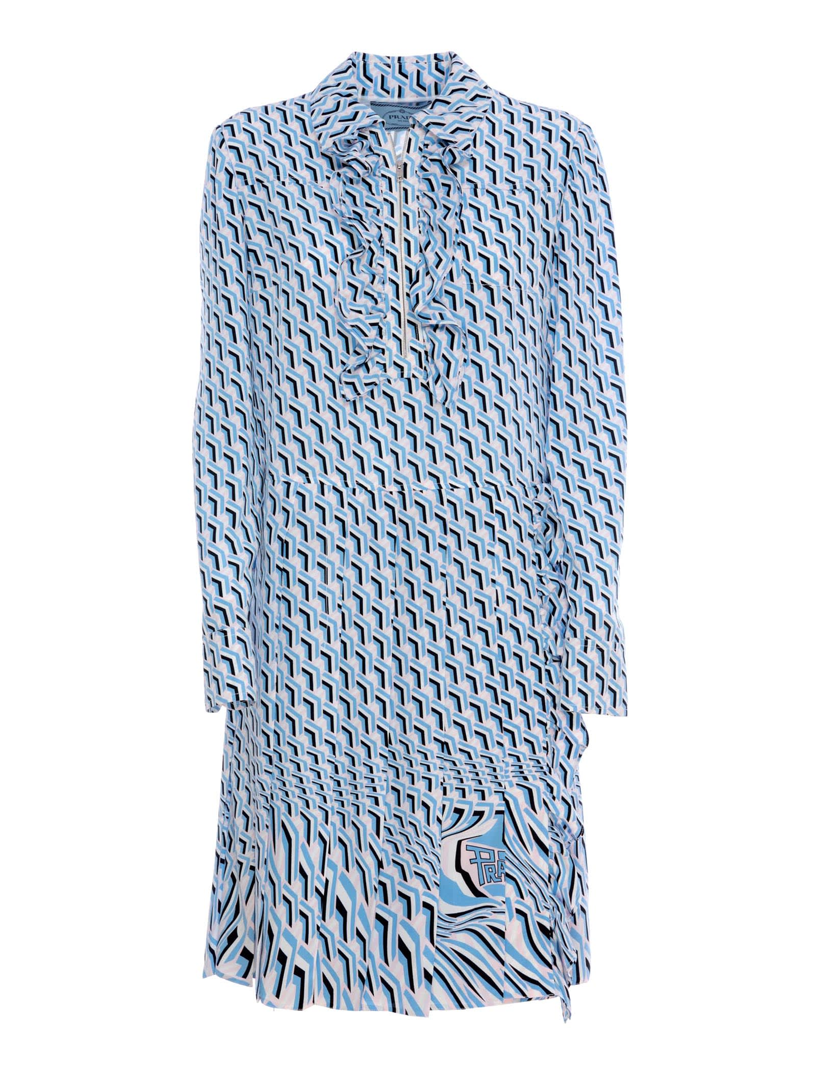 Photo of  Prada Prada Slik Printed Dress- shop Prada  online sales