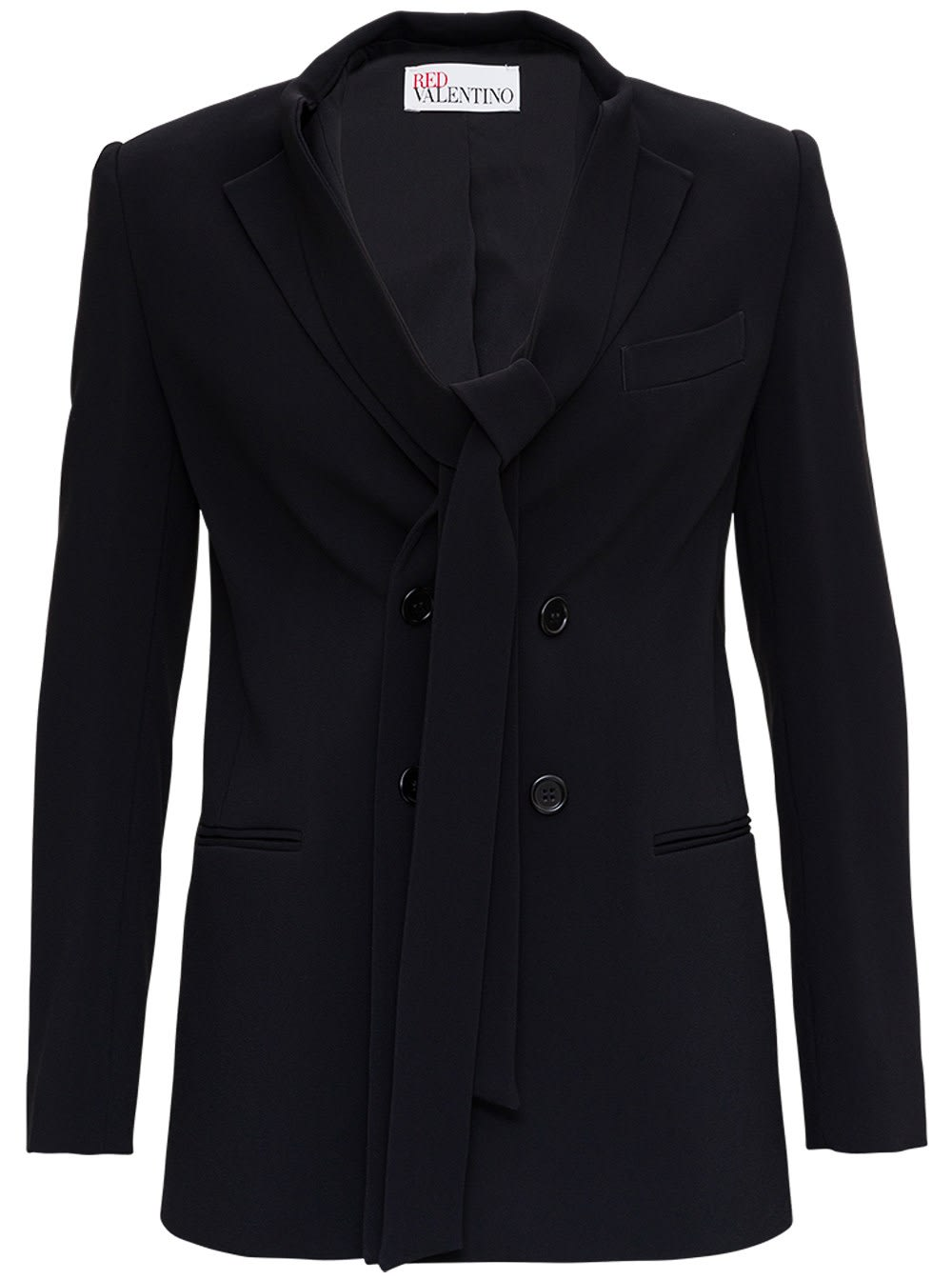 Red Valentino DOUBLE BREASTED JACKET WITH BOW DETAIL