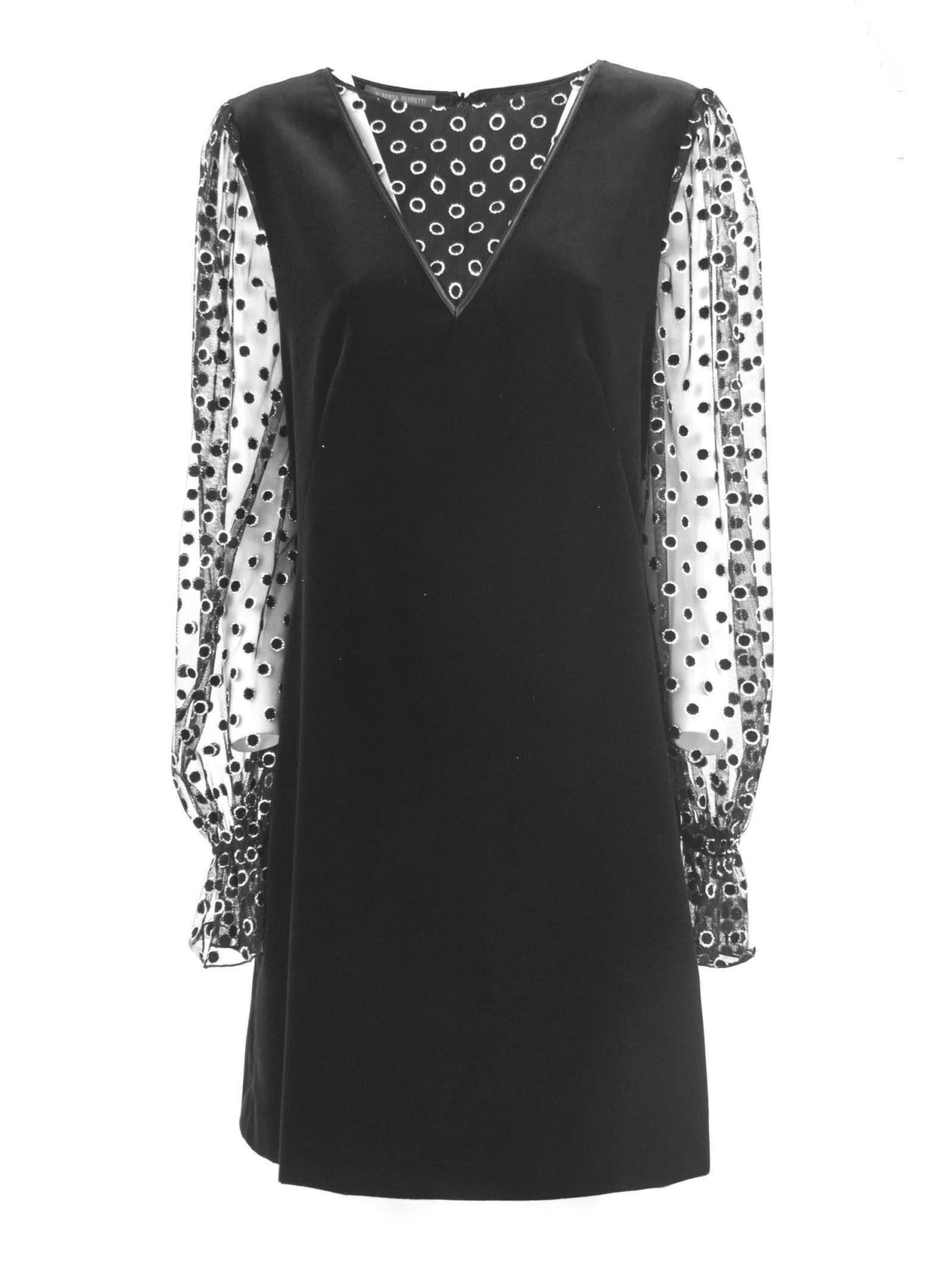 Alberta Ferretti Minidress In Black Velvet