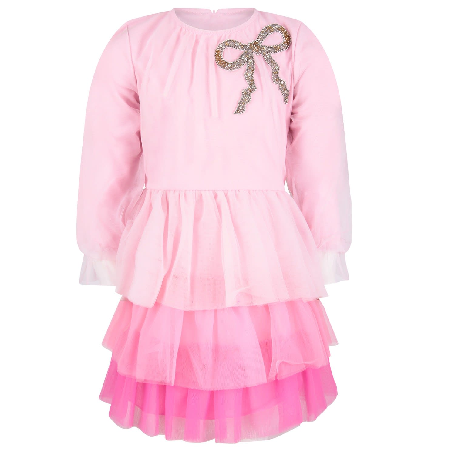 Vivetta Pink fiuggi Girl Dress With Bow