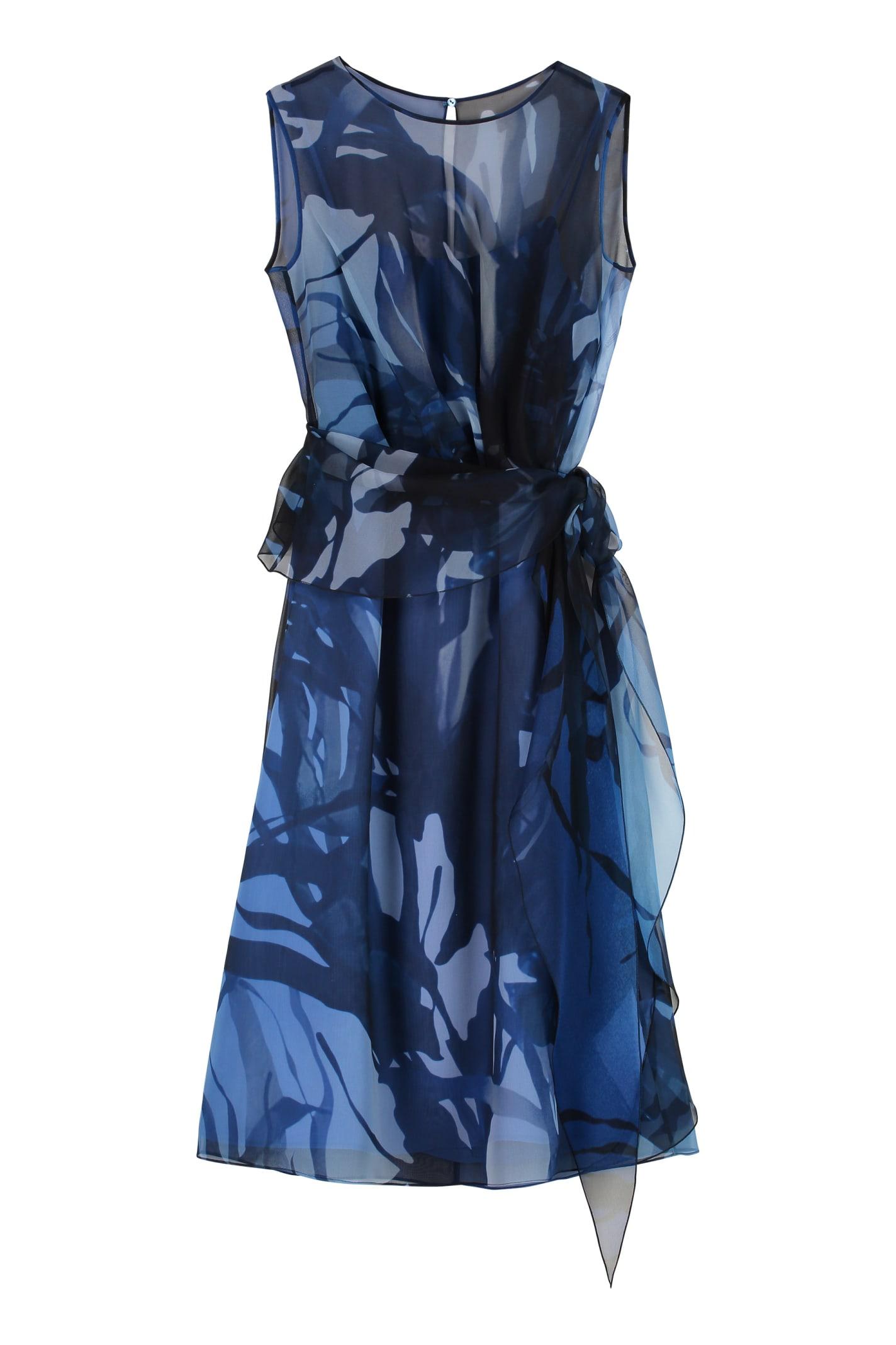 Max Mara Zolfo Printed Chiffon Dress
