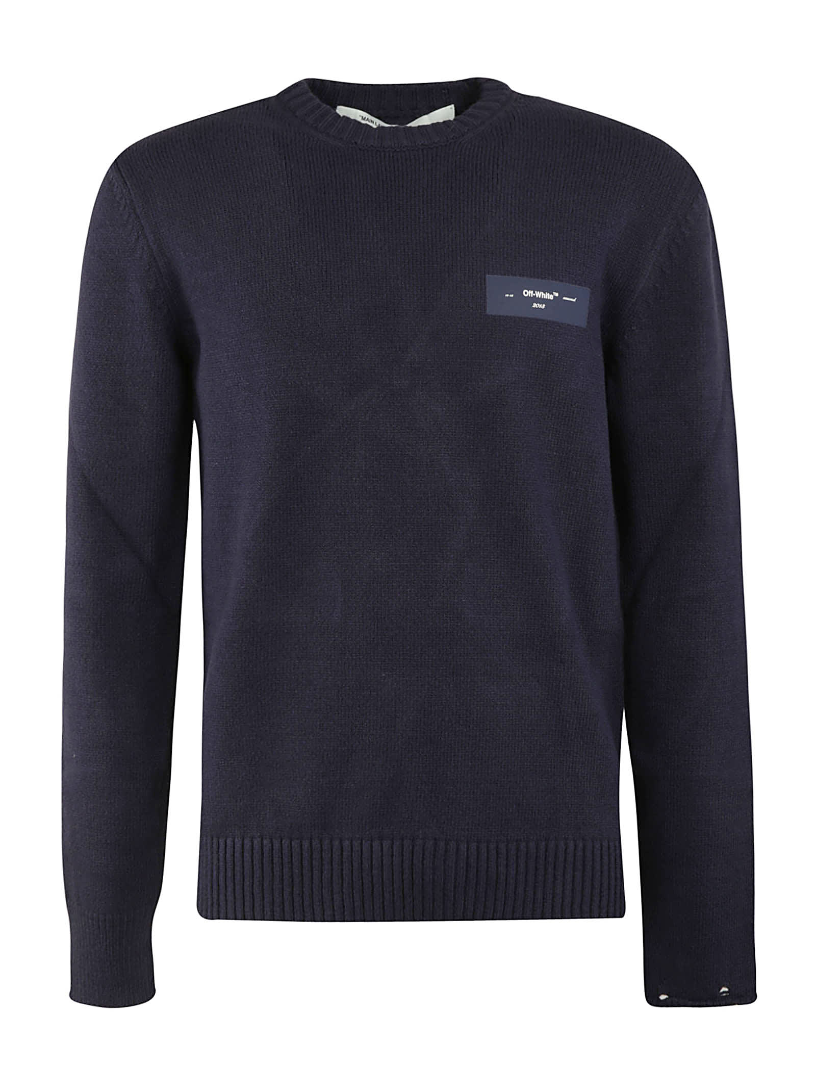 Off-White Logo Knit Crewneck Sweatshirt
