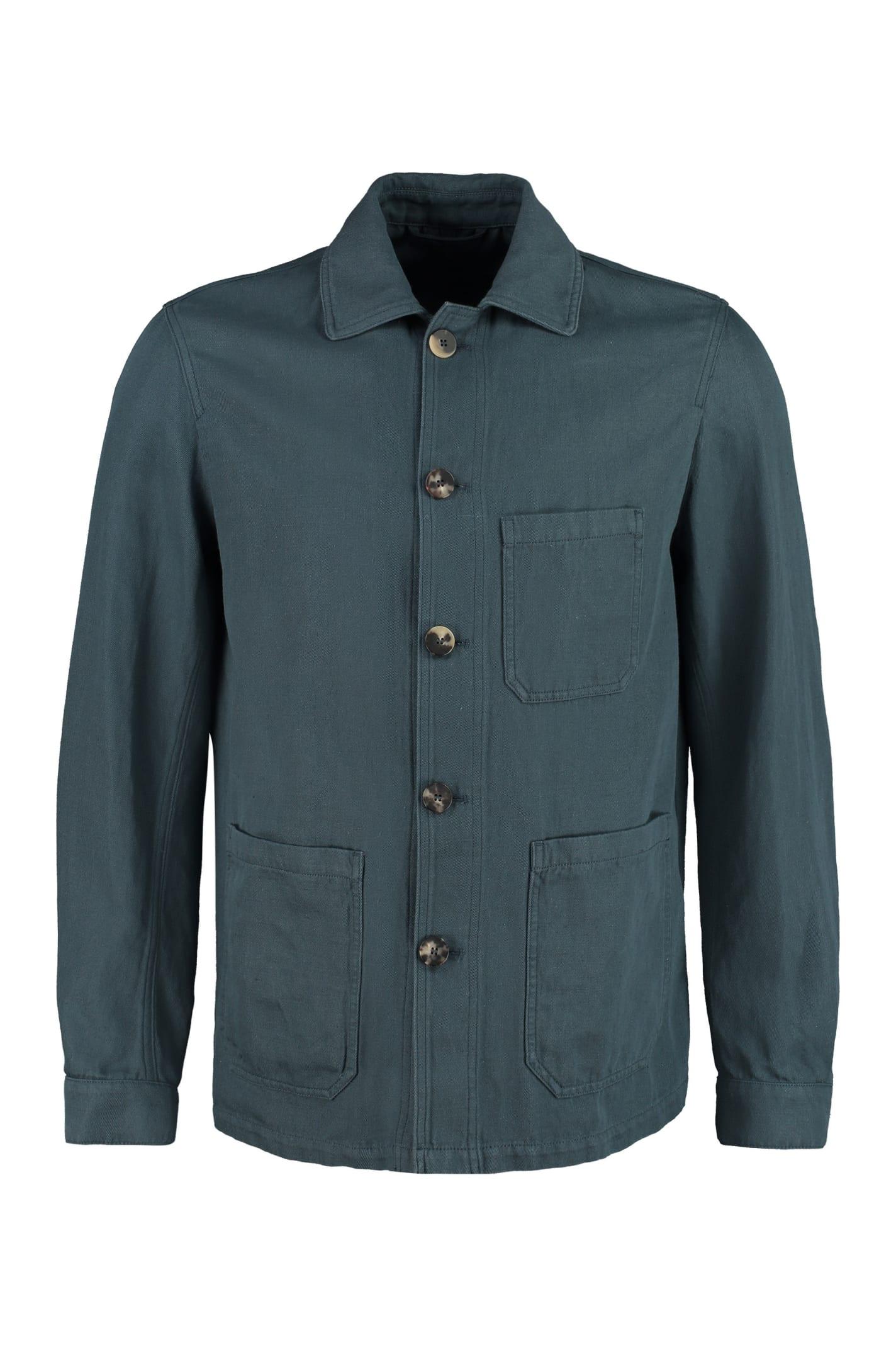 Aasti Linen-cotton Blend Blazer