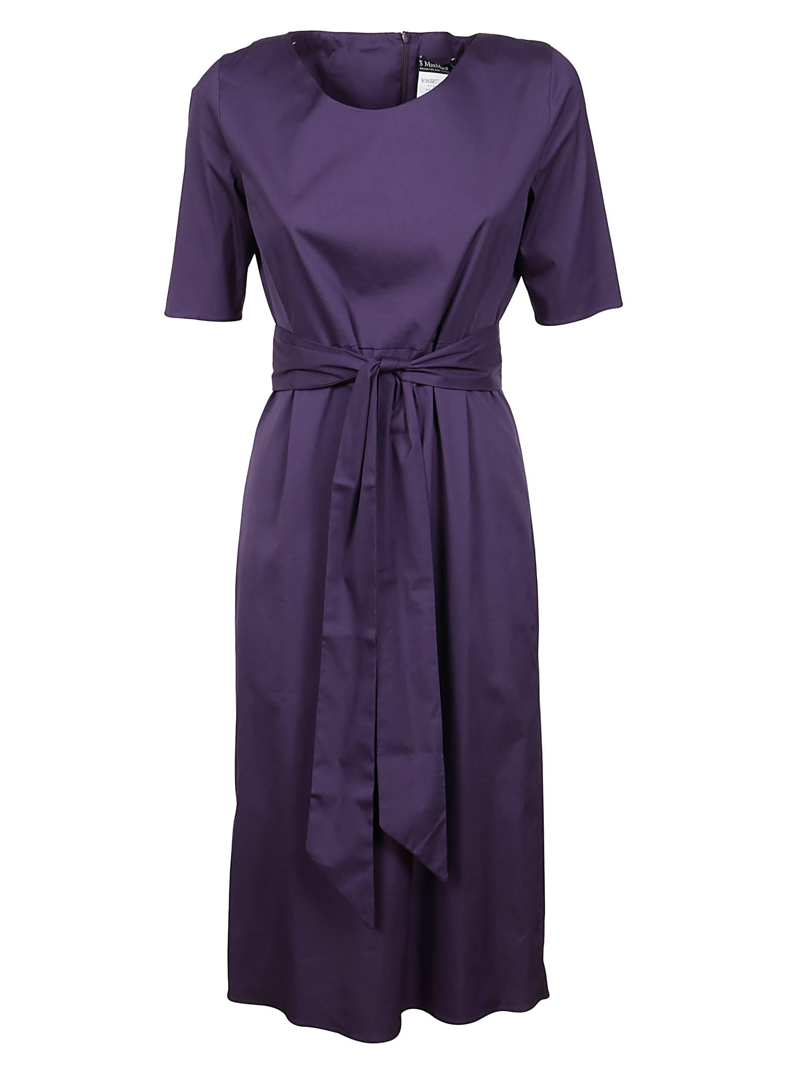 Buy S Max Mara Purple Cotton Dress online, shop S Max Mara with free shipping