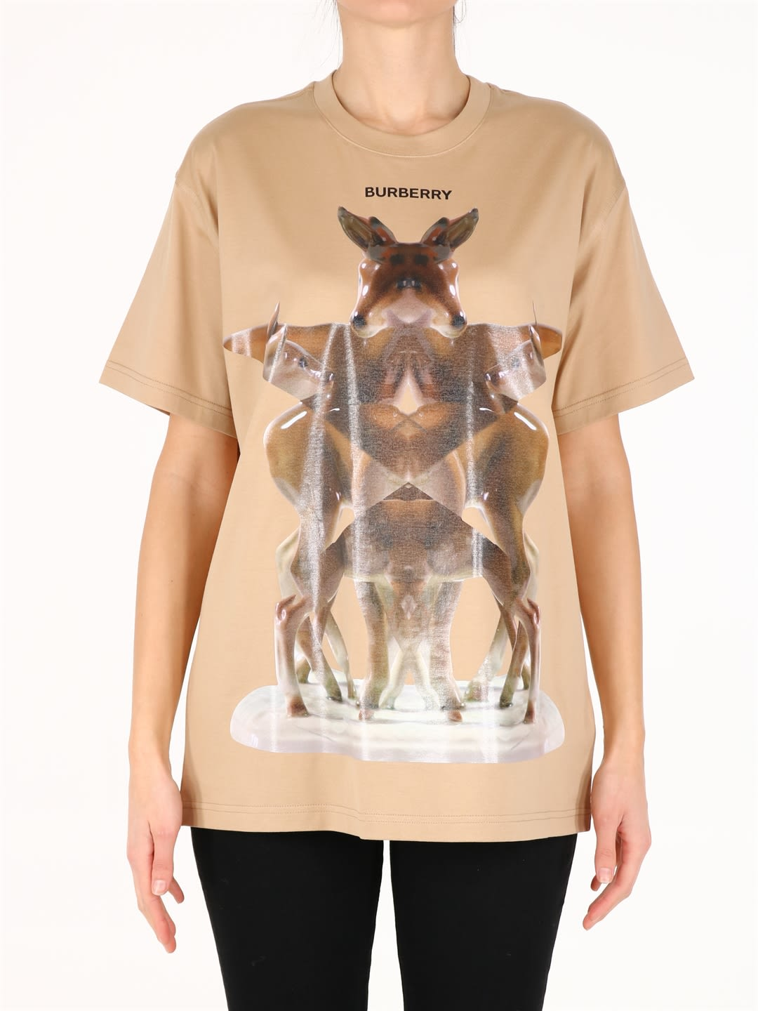 Burberry PRINTED FAWN T-SHIRT BEIGE