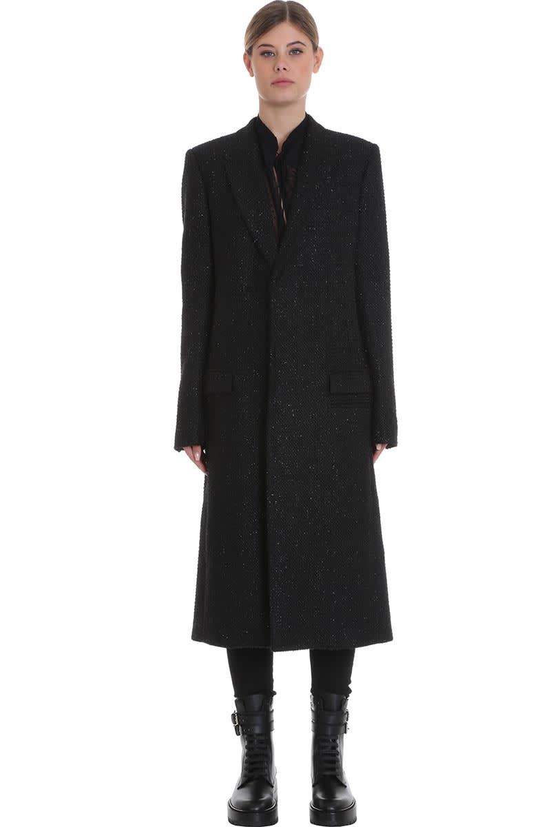 AMIRI Coat In Black Wool