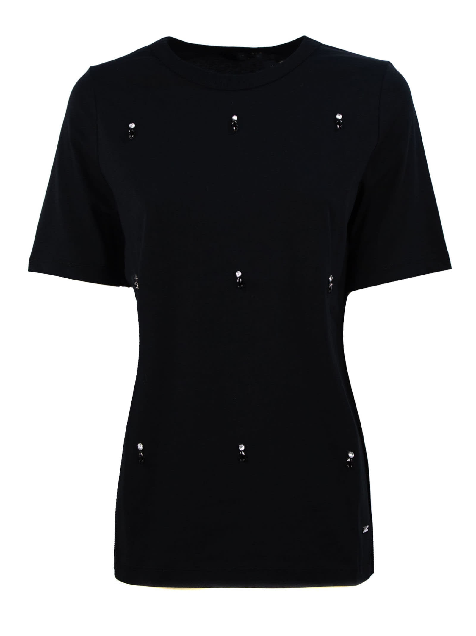 Fay Jewel T-shirt In Black Cotton