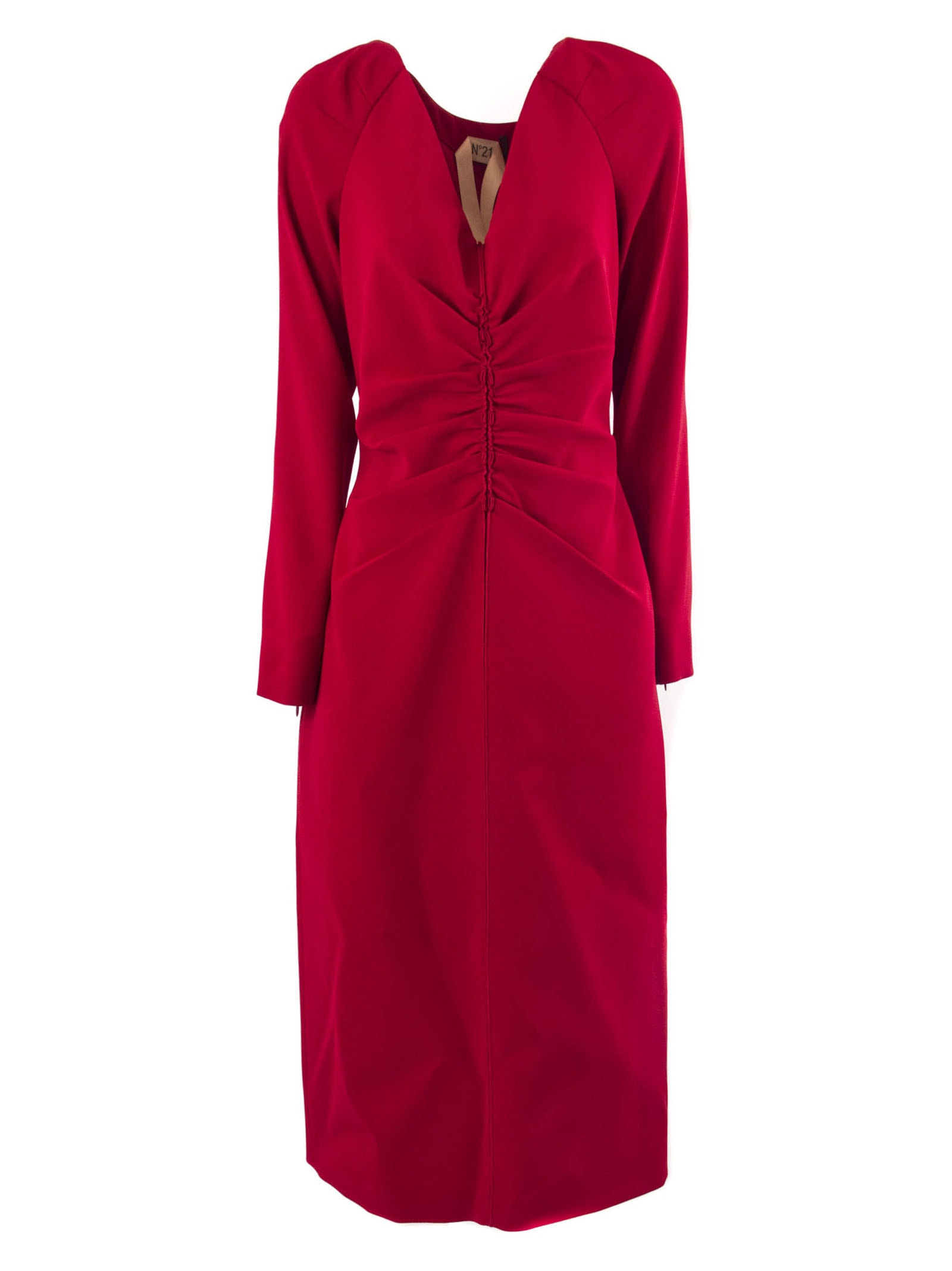 N.21 Long Dress In Red Fabric