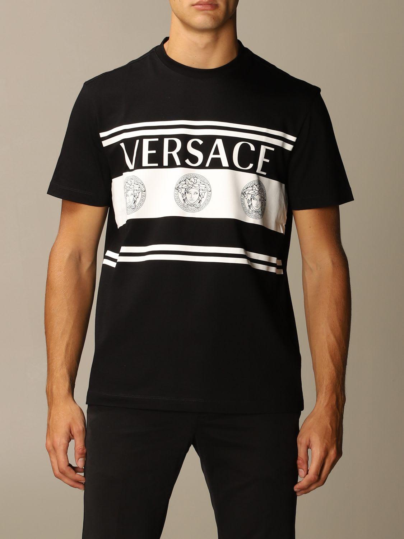 Versace T-shirt Versace T-shirt With Medusa Logo And Bands
