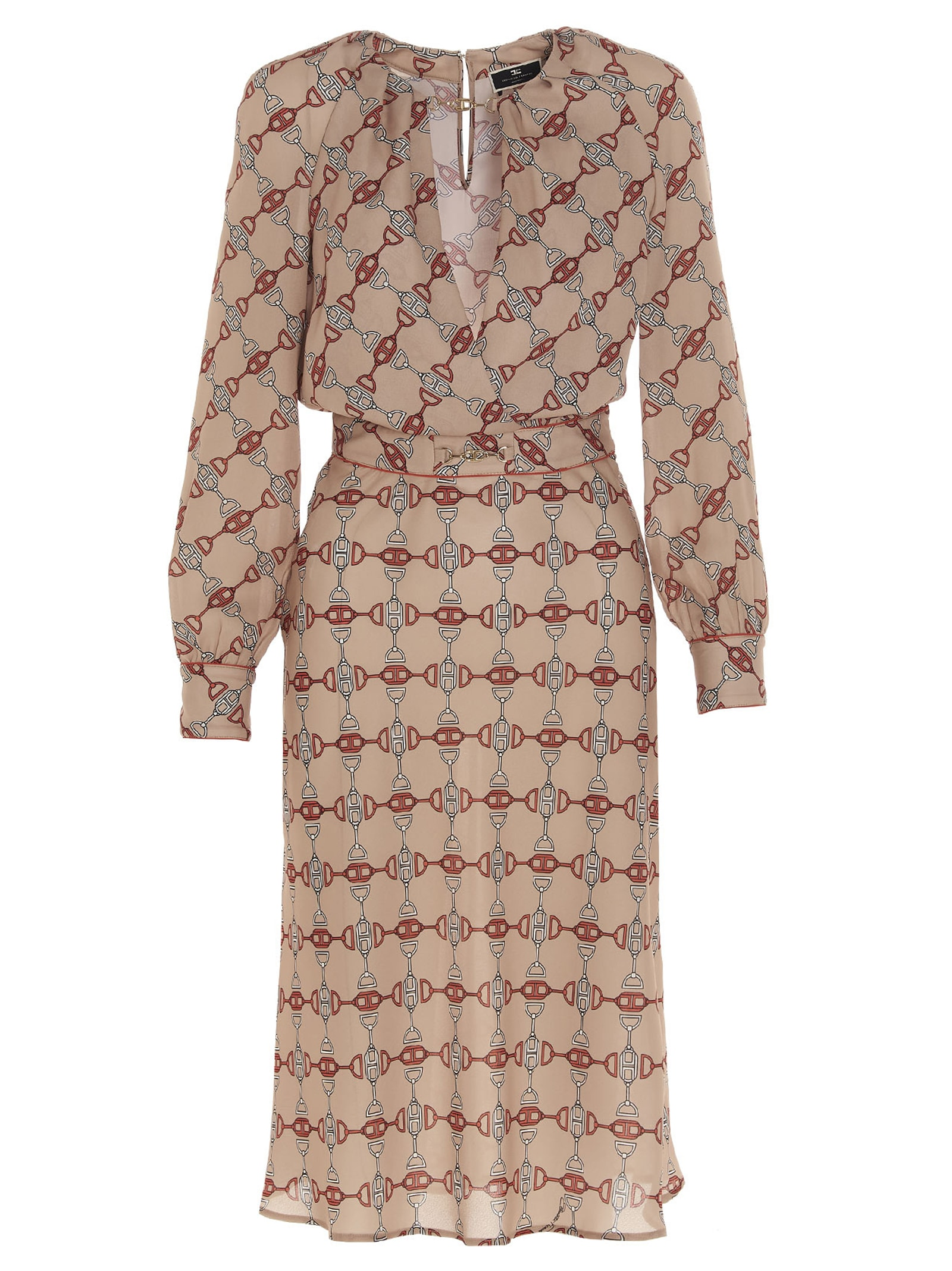 Buy Elisabetta Franchi chain Dress online, shop Elisabetta Franchi with free shipping