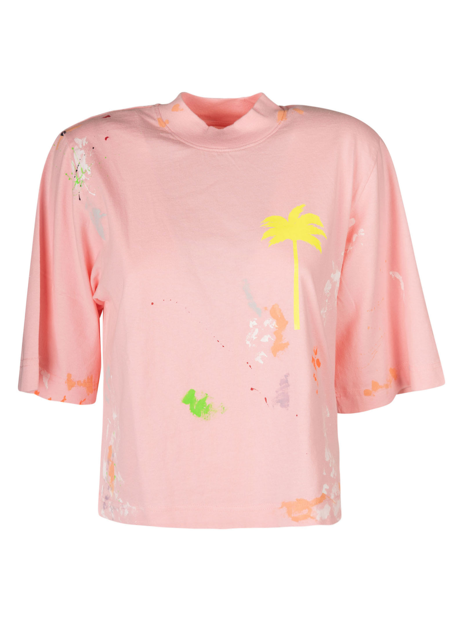 Palm Angels Cottons PXP PAINTED CROPPED T-SHIRT