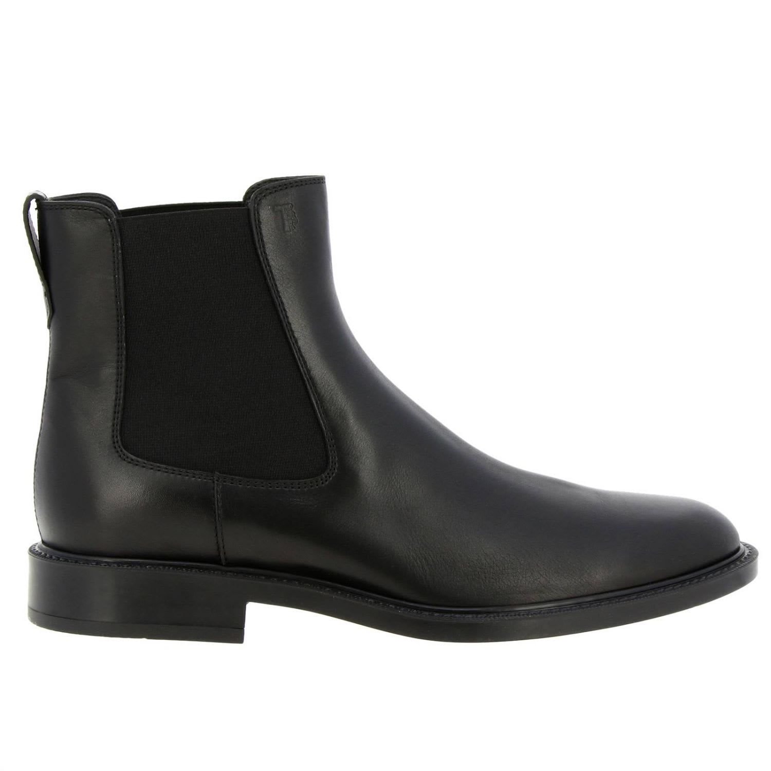 Tods Boots Tods Ankle Boots In Smooth Leather With Elastic Bands And Rubber Sole