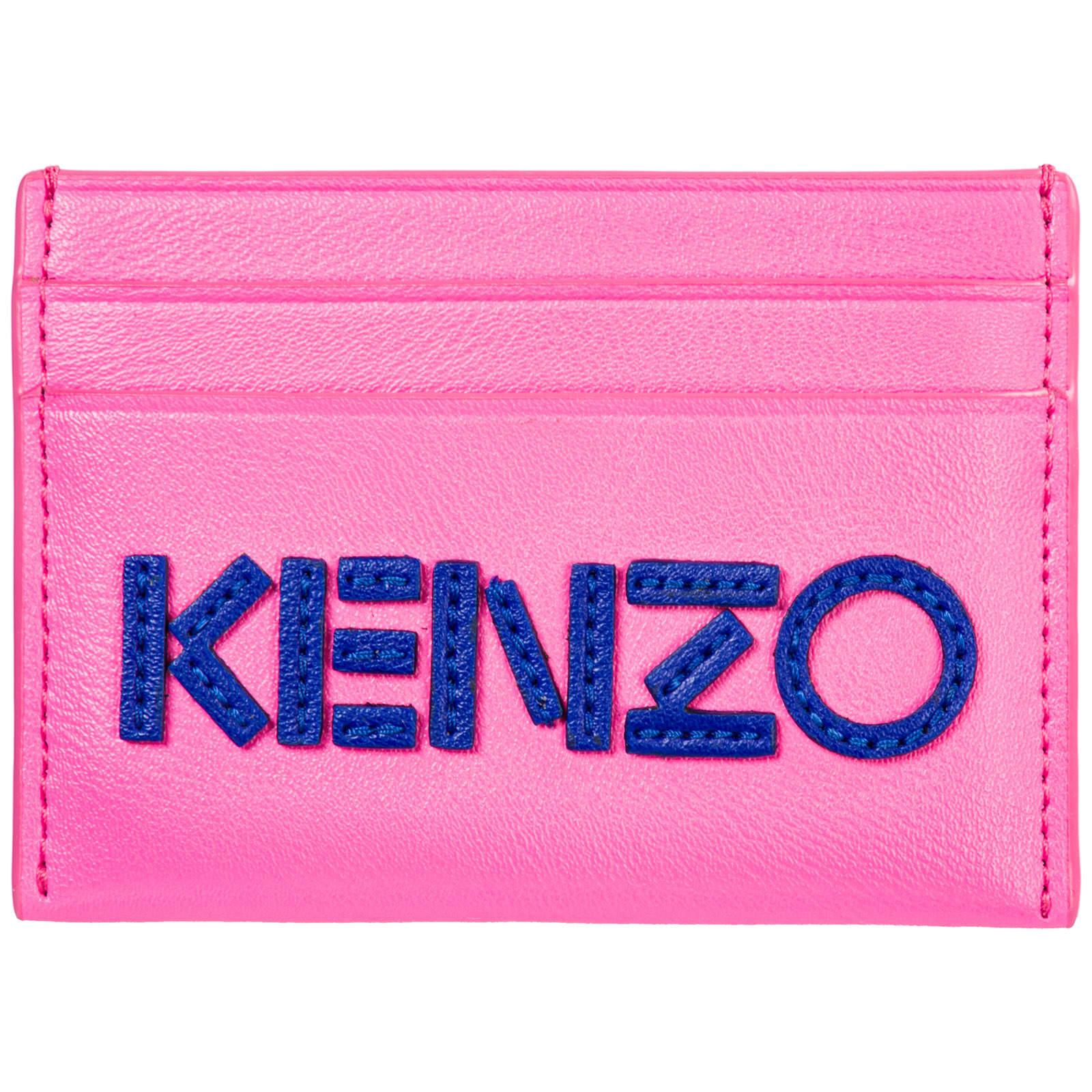 Kenzo Macro Tag Credit Card Holder In Rosa
