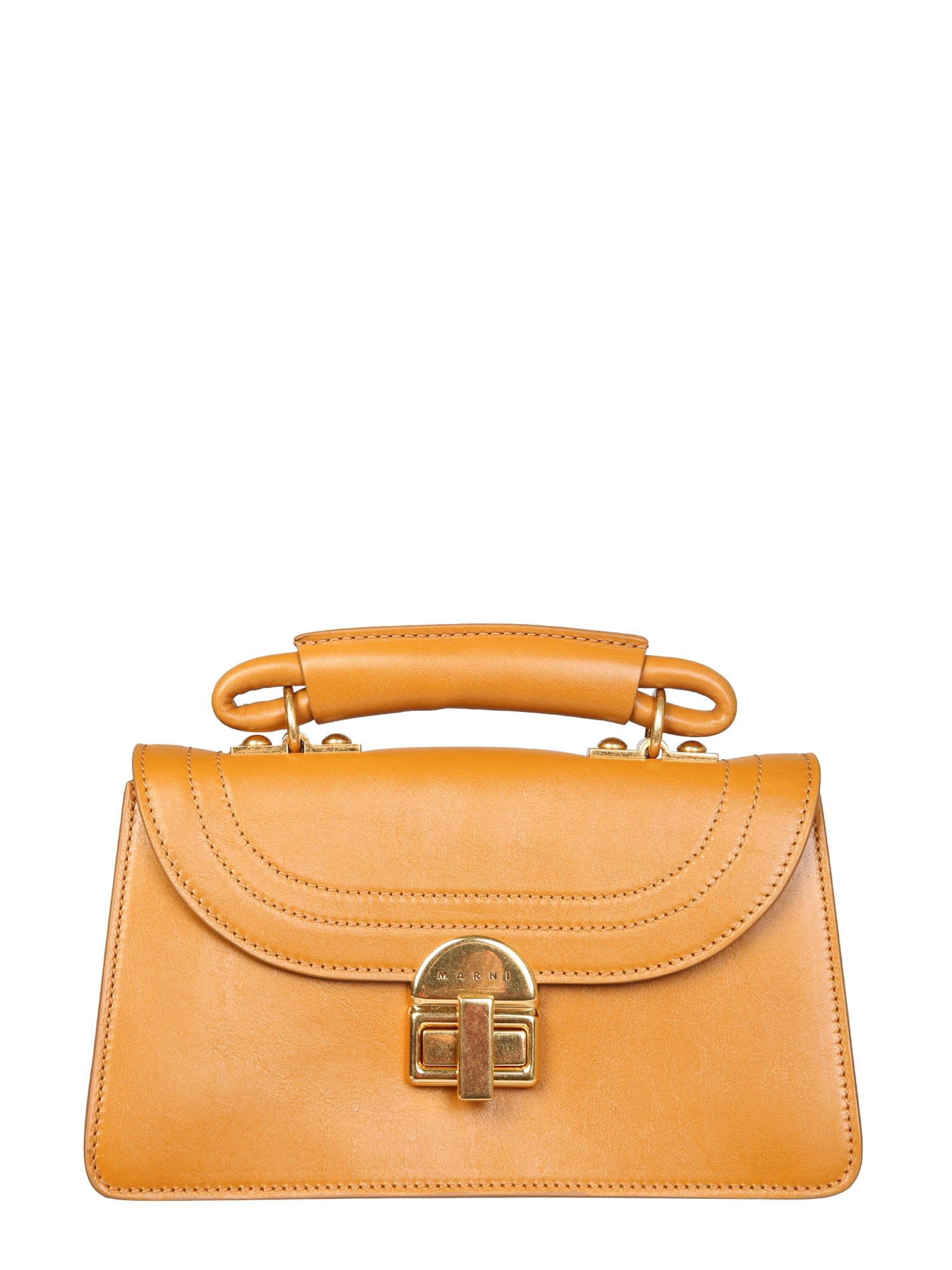 Marni Small Juliette Shoulder Bag In Arancione