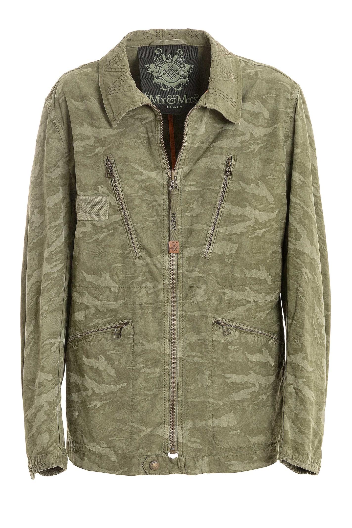 Camouflage Cotton Canvas Jacket