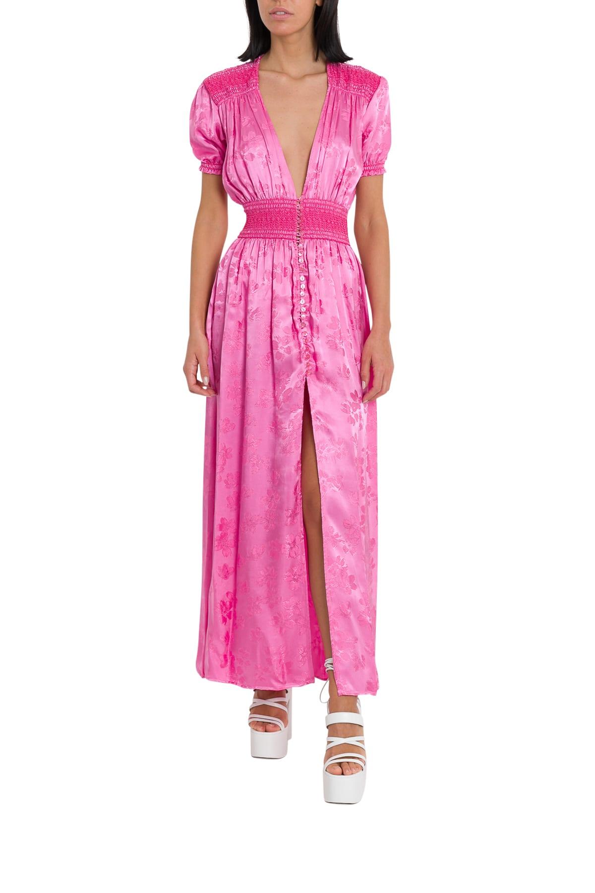 The Attico Borcade Long Dress