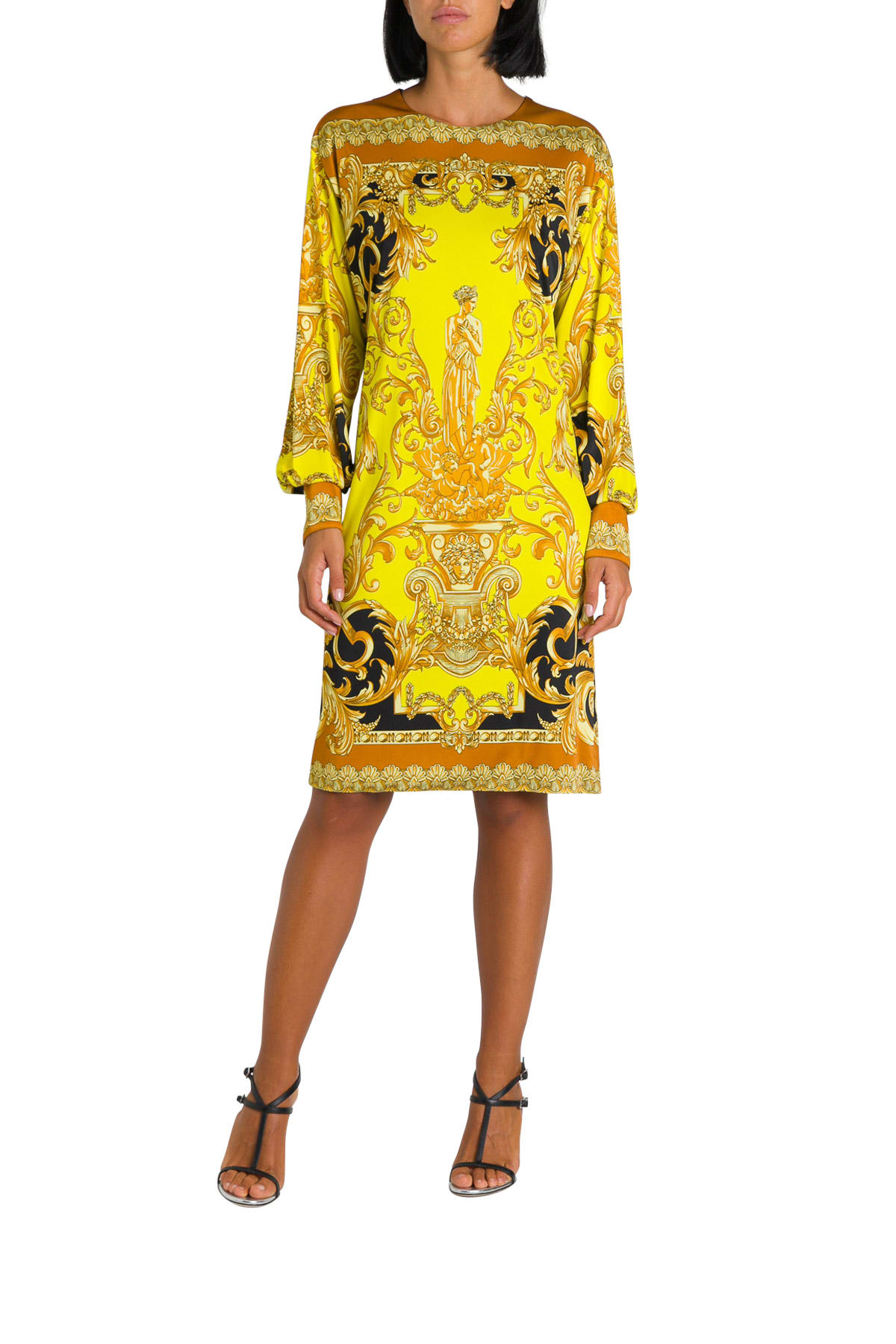 Versace Baroque Printed Tunic Dress