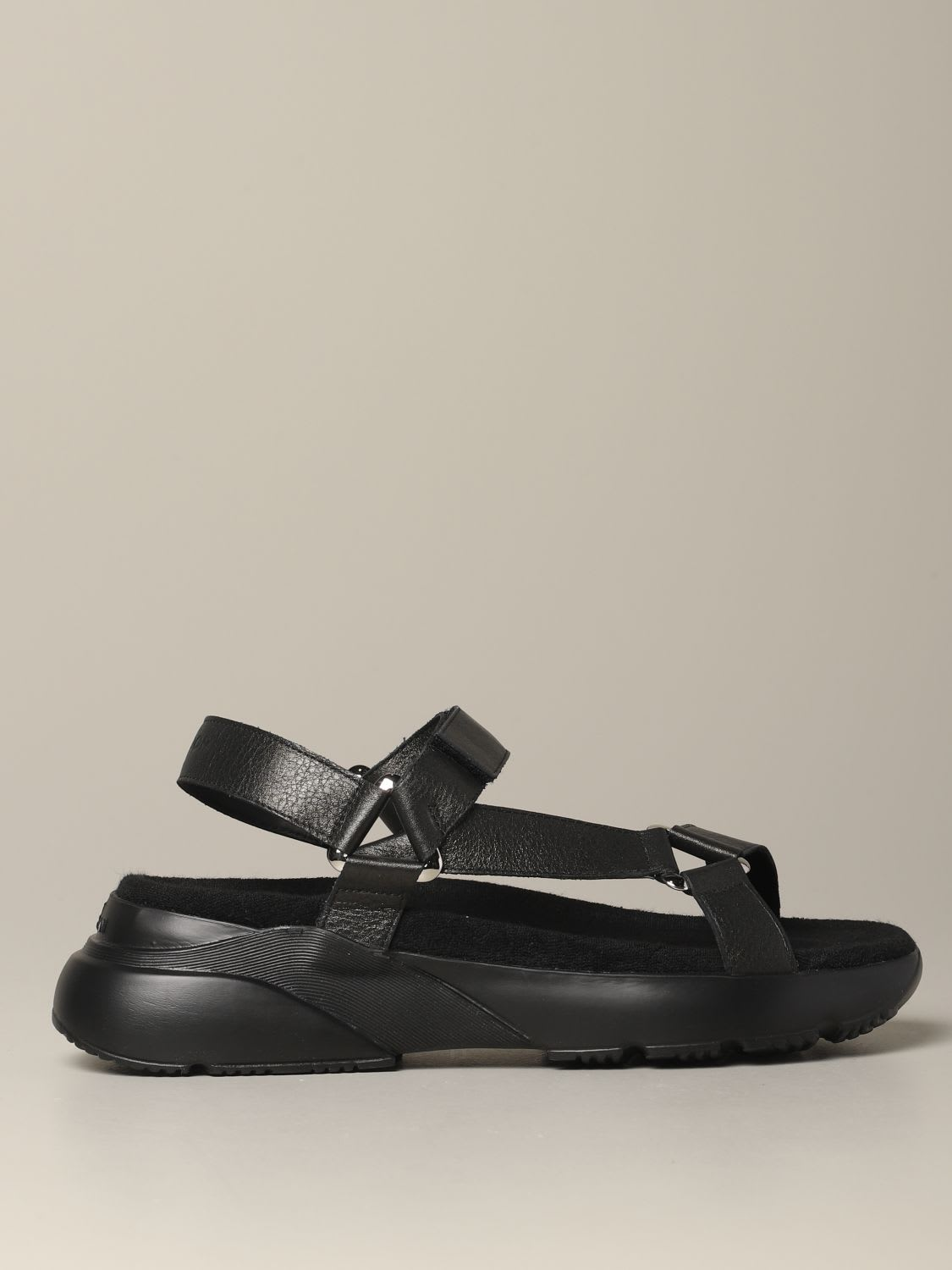 Hogan Sneakers Hogan Leather Sandal With Active One Sole