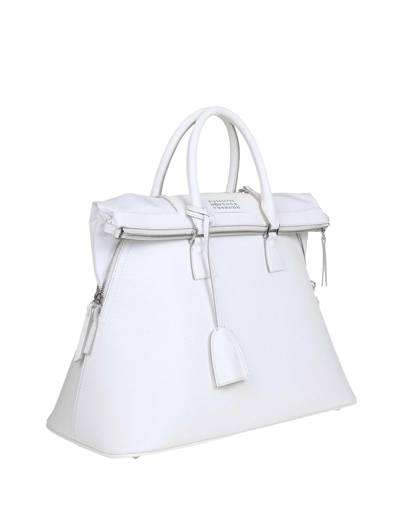 Maison Margiela 5ac Handbag In White Calf Leather