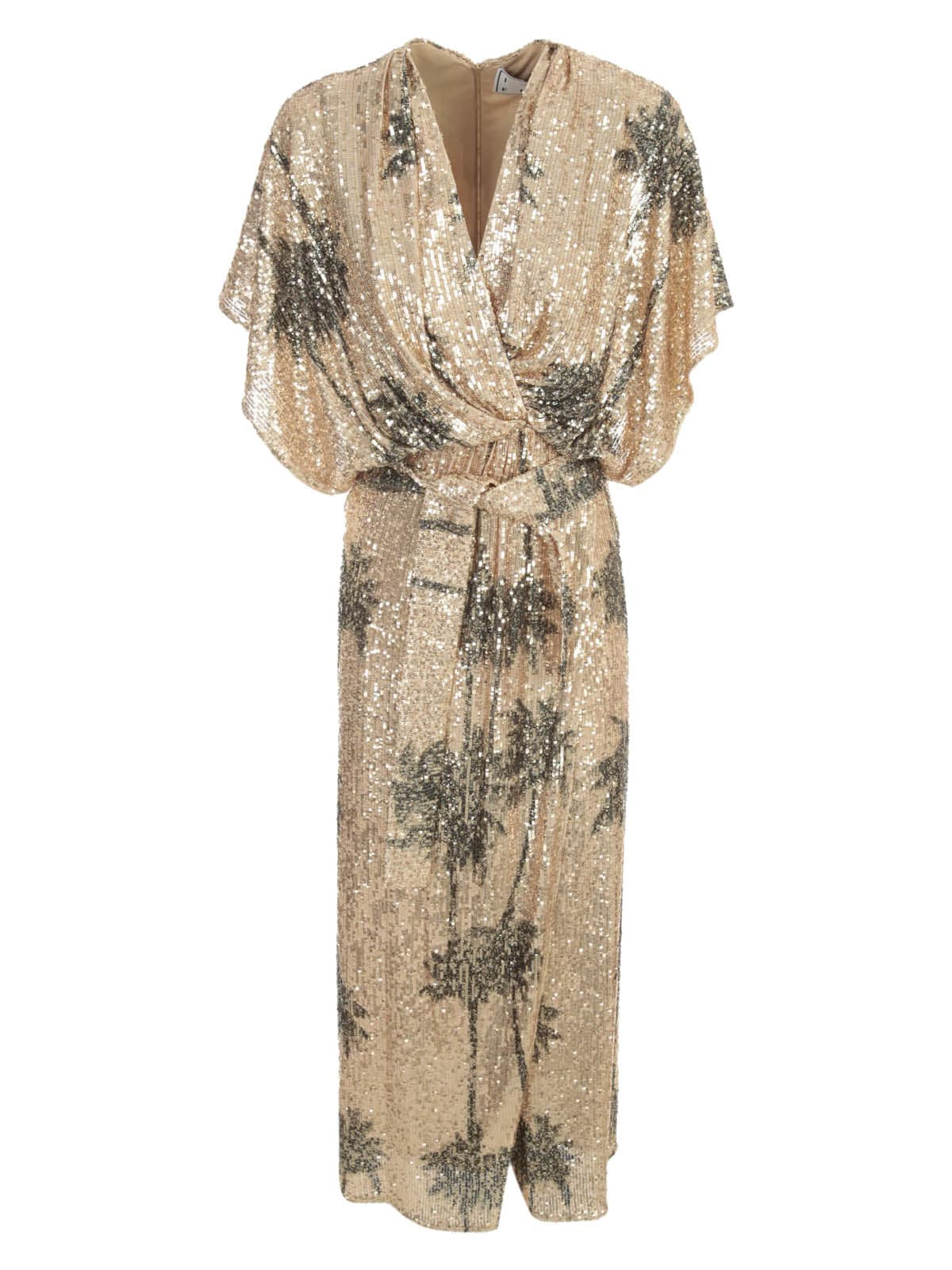 Buy In The Mood For Love Palm Tree Printed Sofy Sequin Wrap Dress online, shop In The Mood For Love with free shipping