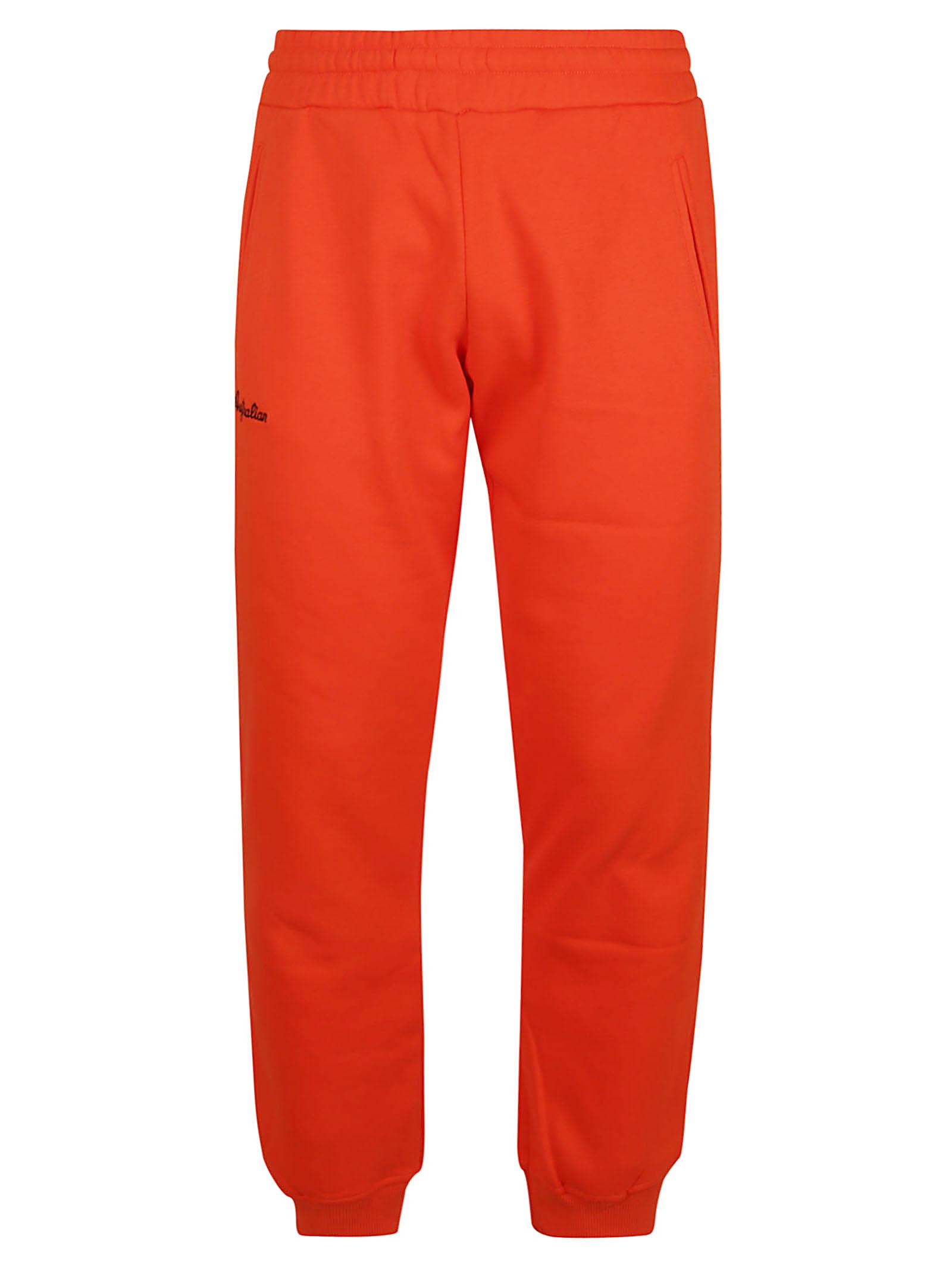 Winter Sweatpants With Rib Bottom