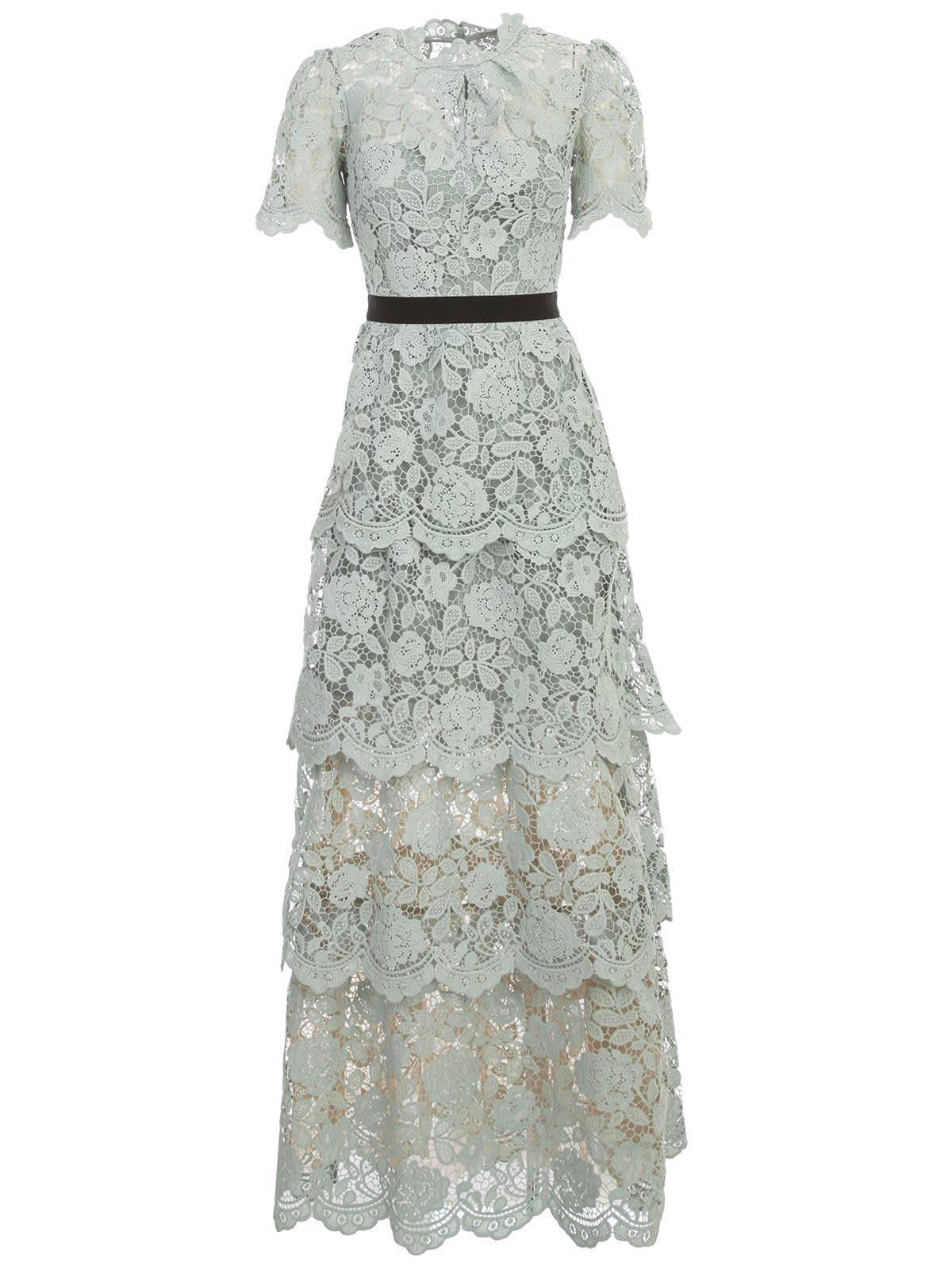 Buy self-portrait Dress Over Flower Lace online, shop self-portrait with free shipping