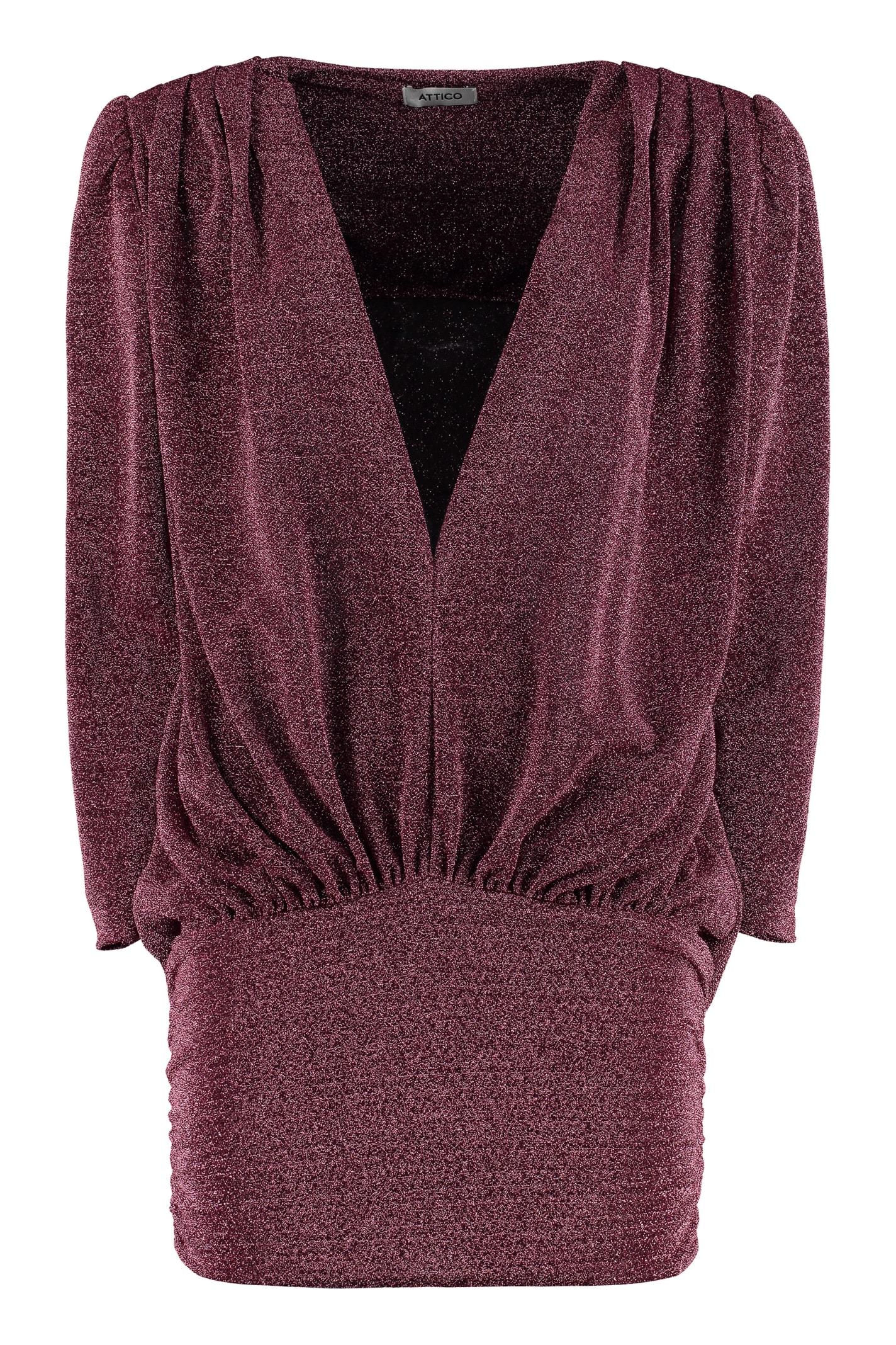 The Attico Knitted Lurex Mini-dress