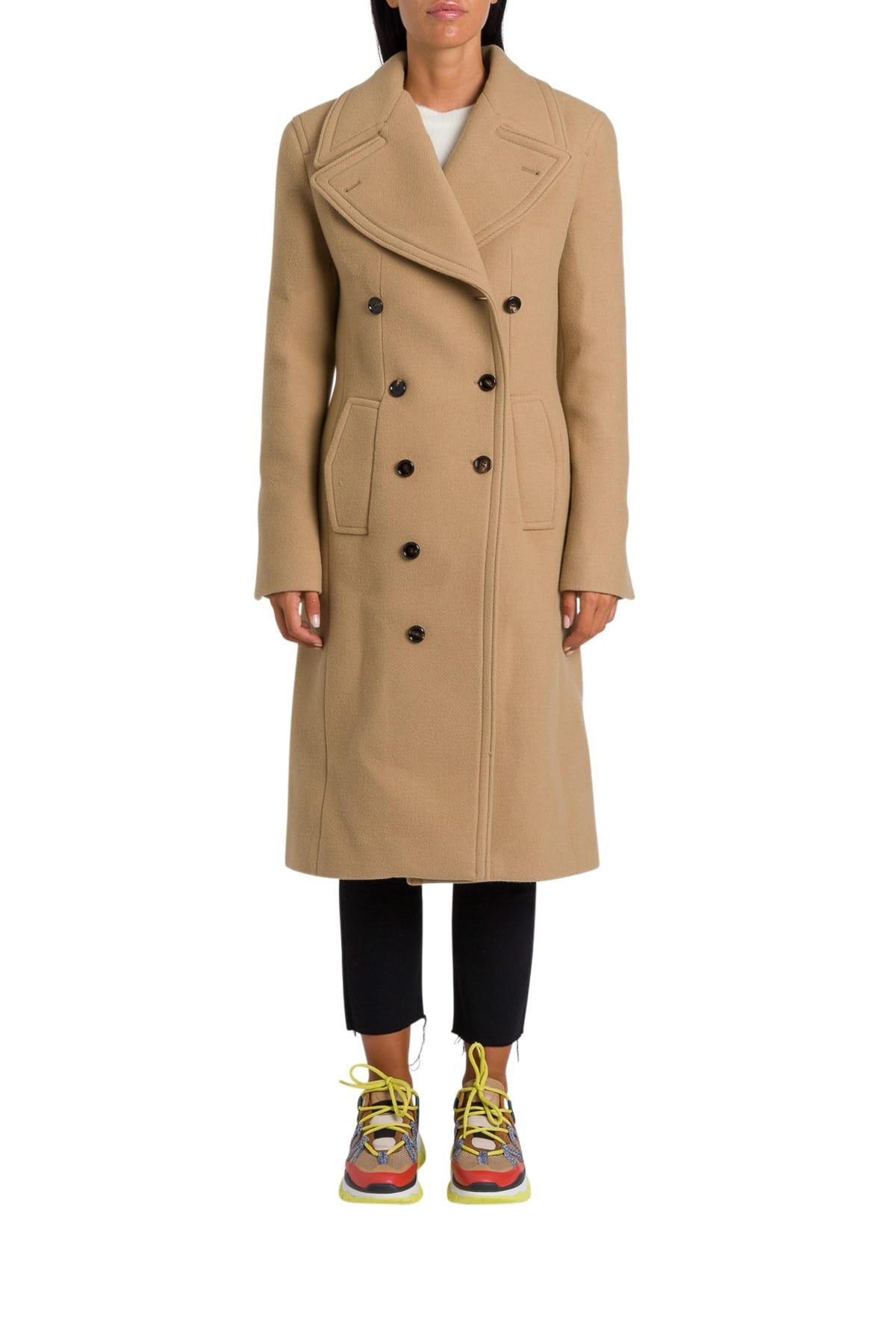 Chloé Asymmetric Double-breatsed Coat