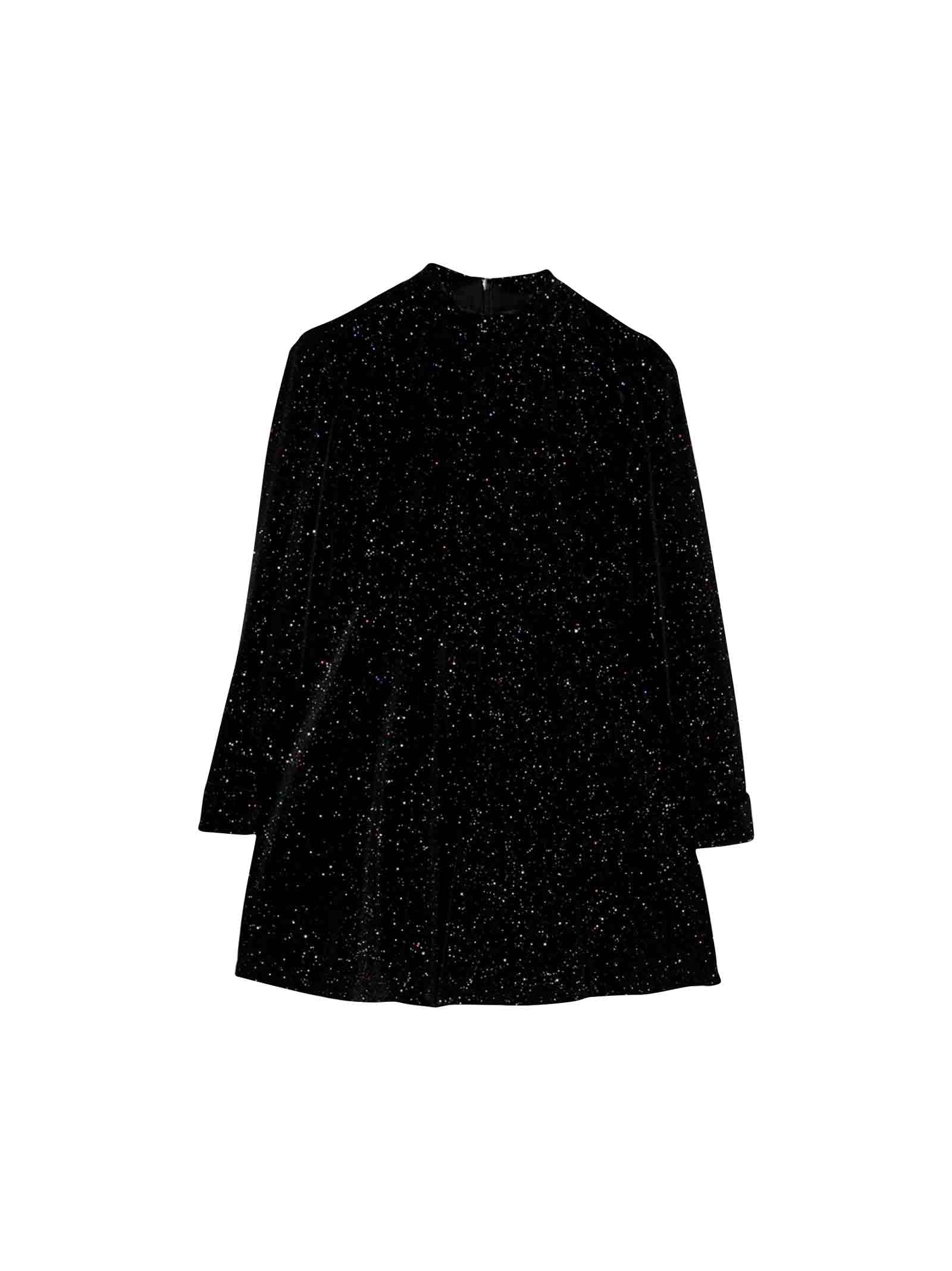 Philosophy di Lorenzo Serafini Kids Black Glittery Dress