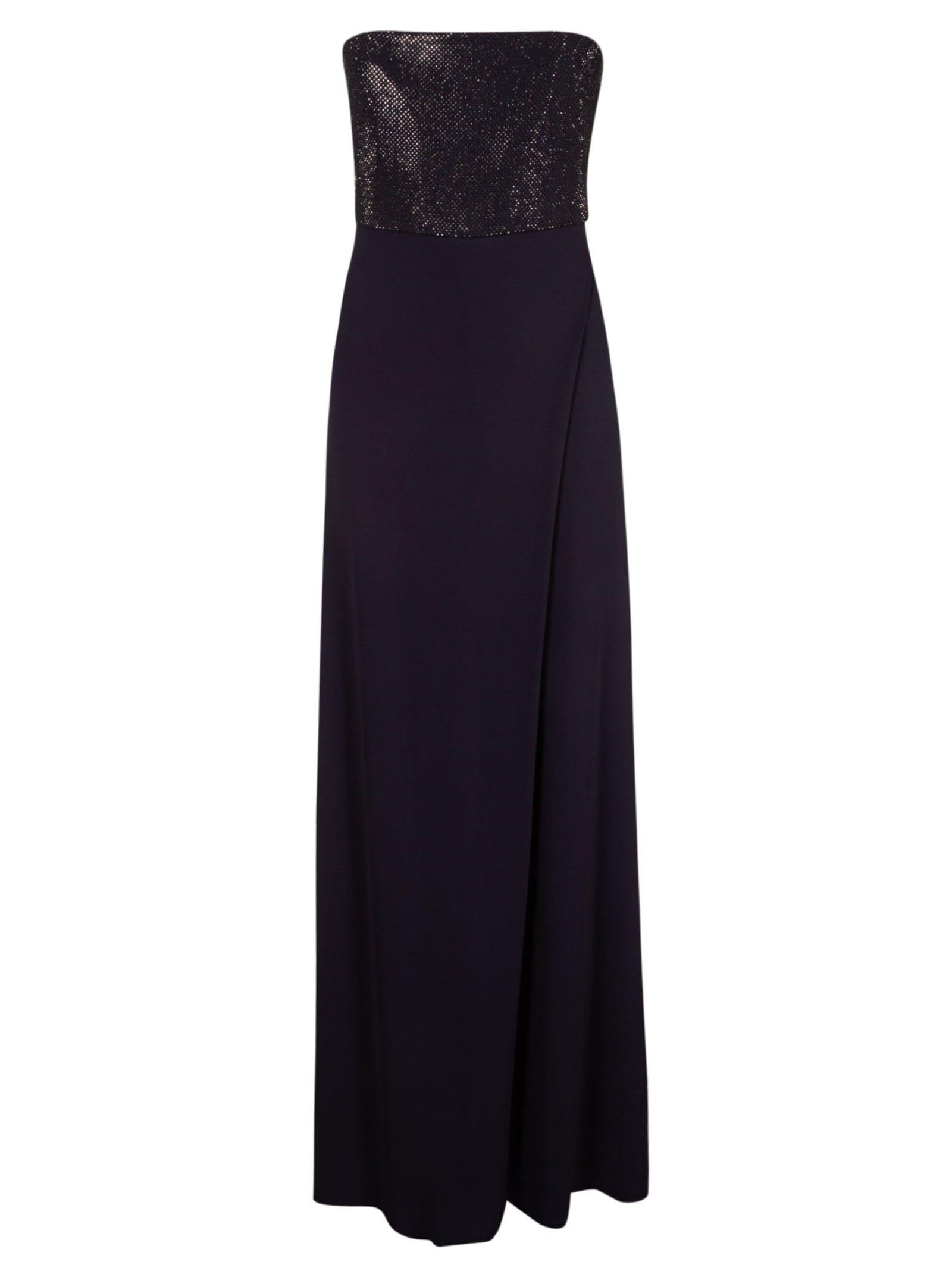 Buy Emporio Armani Back Long Zip Dress online, shop Emporio Armani with free shipping