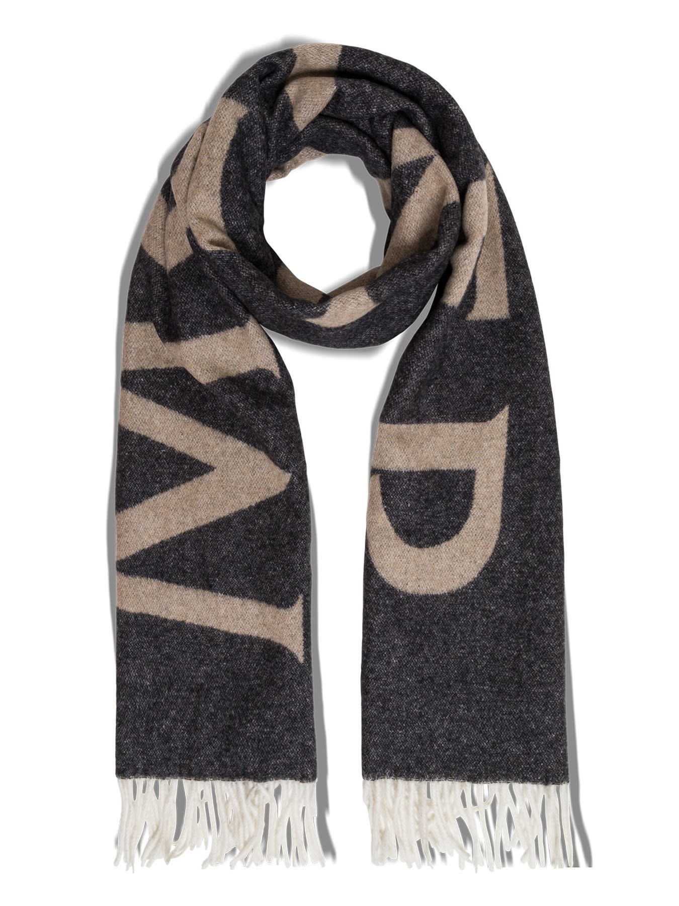 Moncler BICOLOR WOOL SCARF WITH LOGO