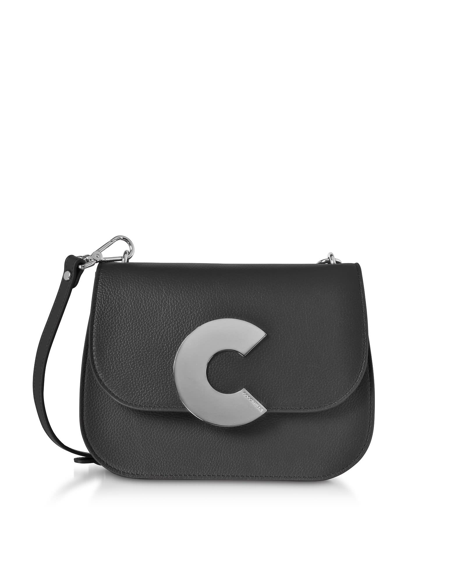 50986167743 Coccinelle Craquante Grained Leather Medium Crossbody Bag