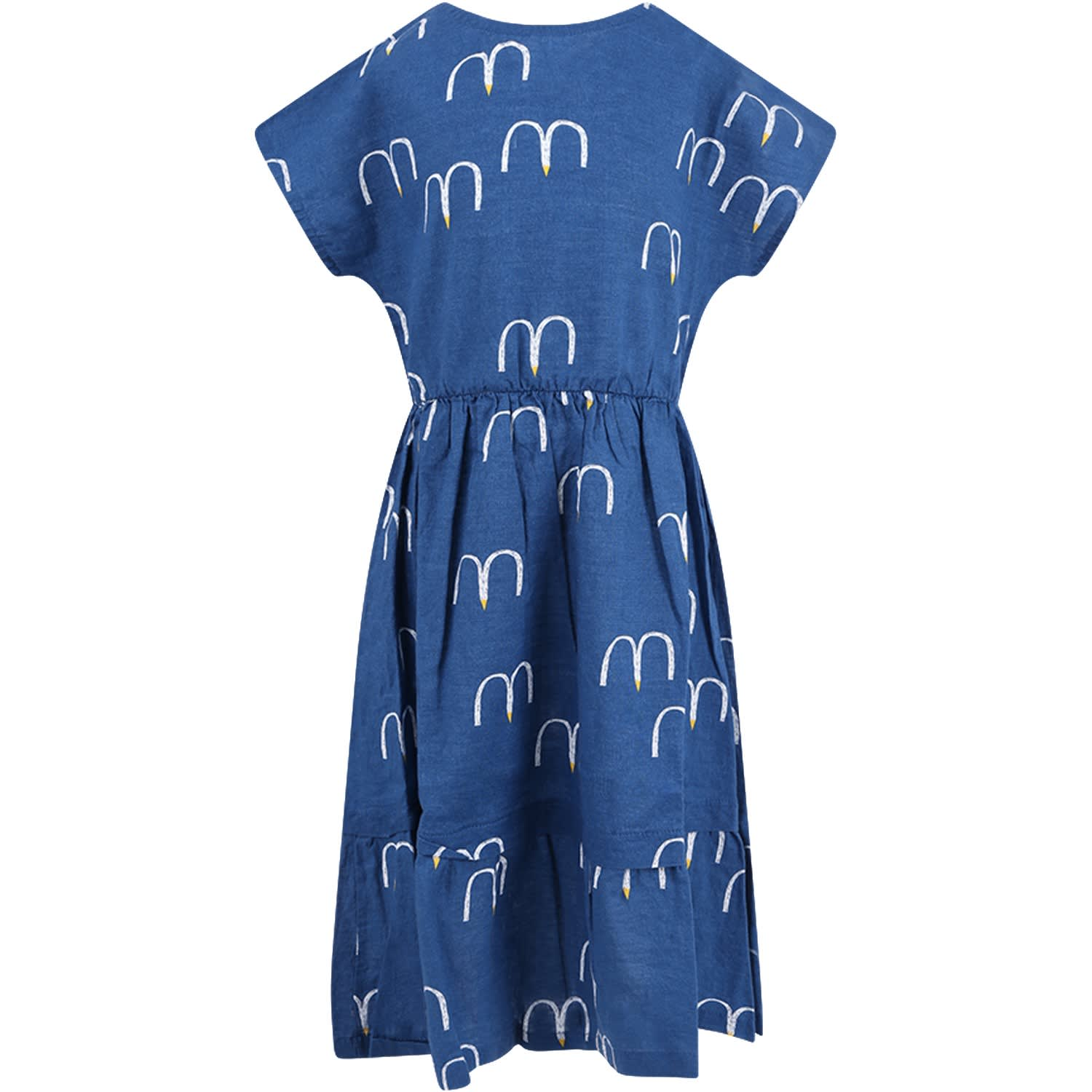 Photo of  Bobo Choses Blue Girl Dress With Seagull- shop Bobo Choses  online sales
