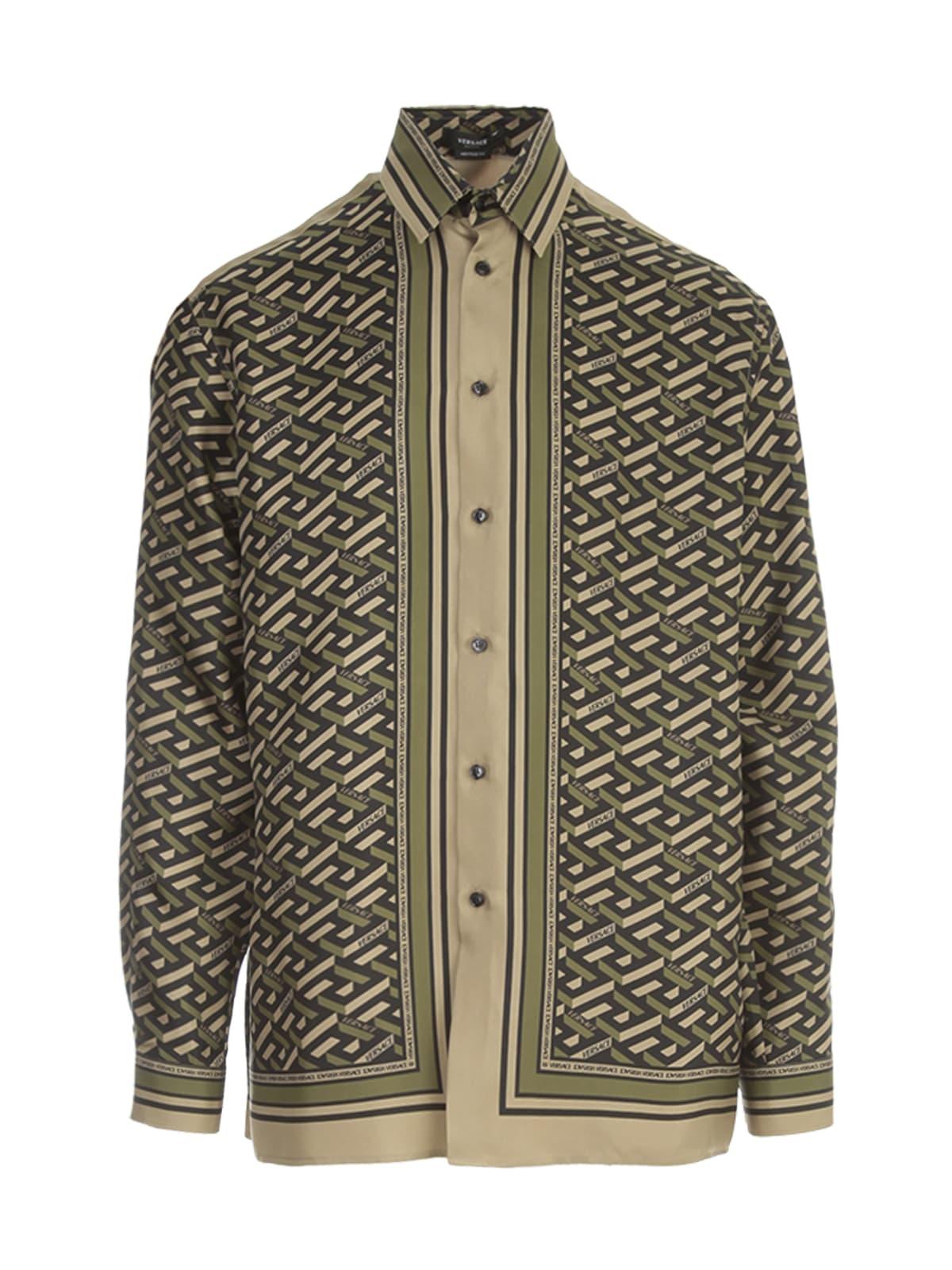 Versace Twill Silk Printed Shirt