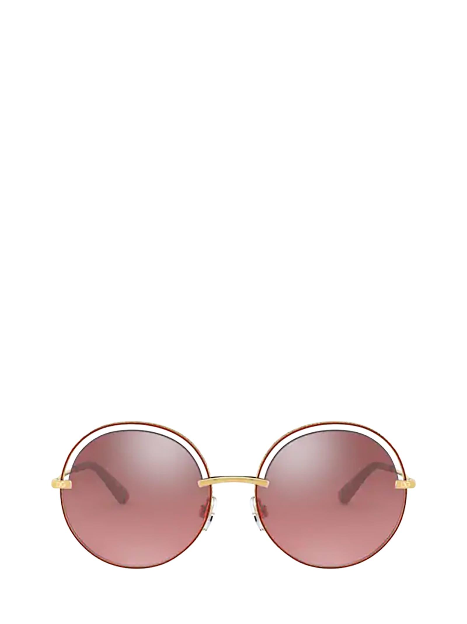 Dolce & Gabbana Dolce & Gabbana Dg2262 Gold / Pink Sunglasses