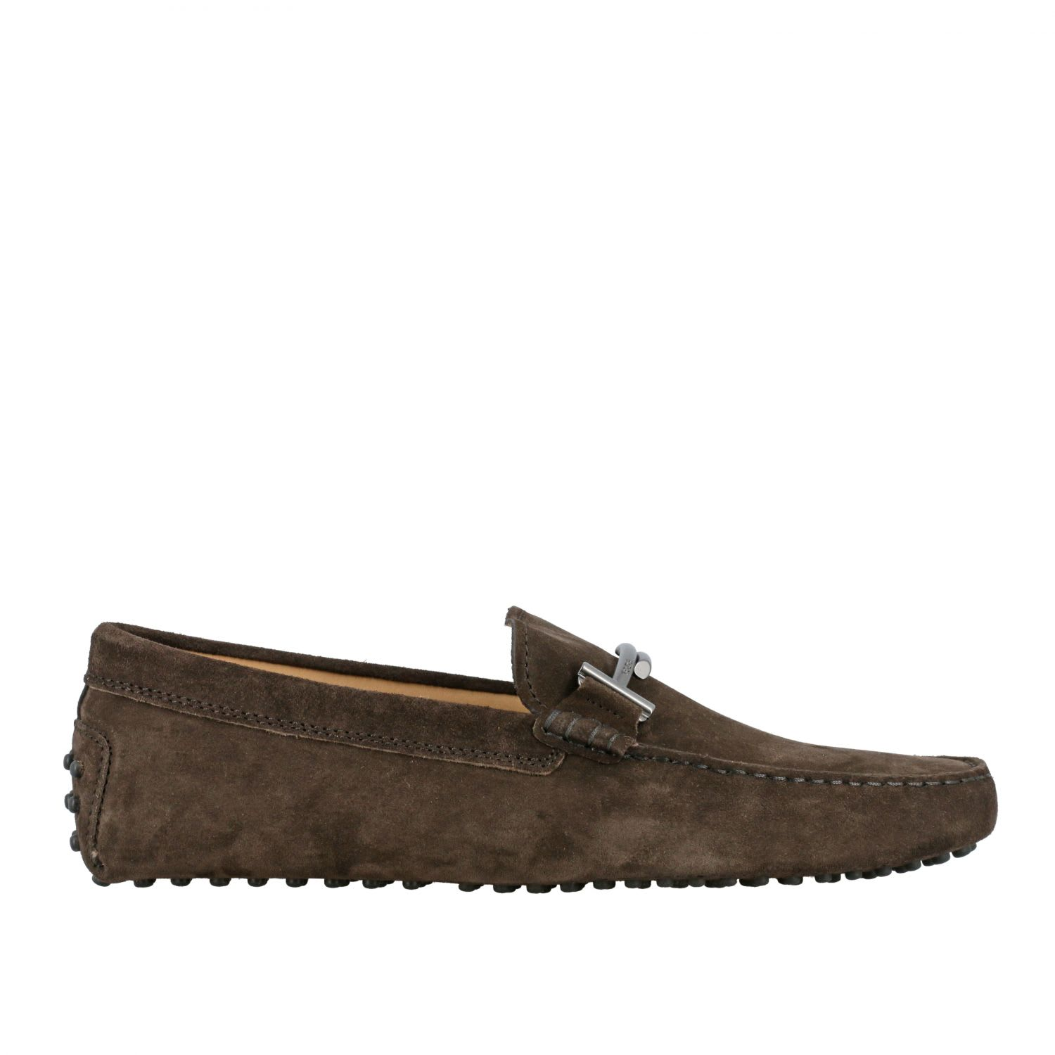 Tods Loafers Tods Gommini Loafer In Suede With Double T