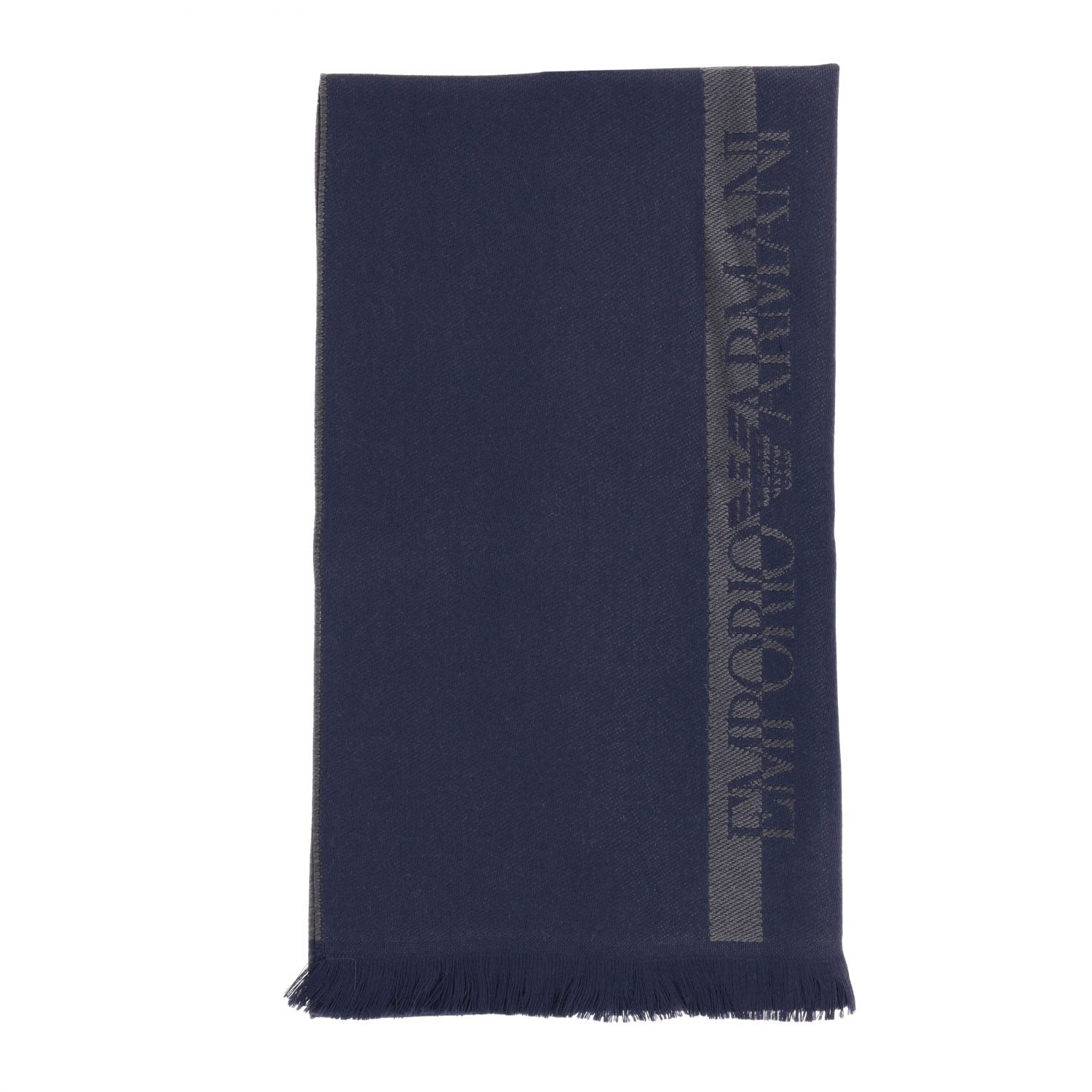 Emporio Armani Scarf Emporio Armani Scarf In Basic Wool With Logo