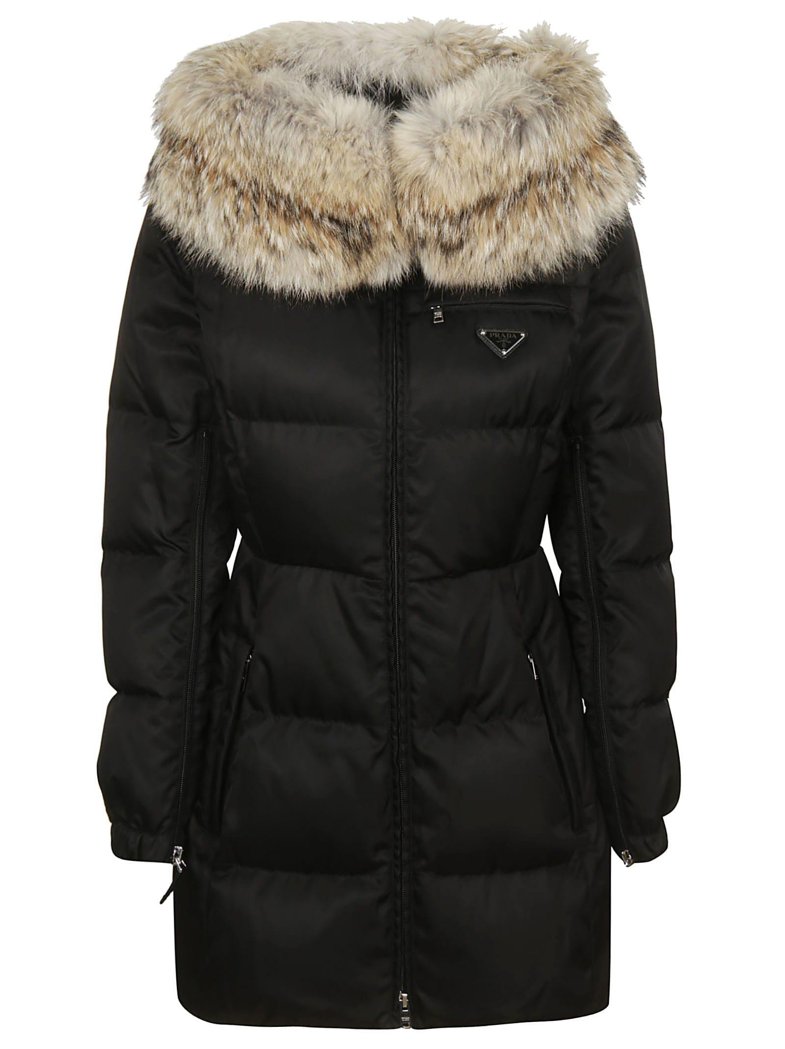 Prada Fur Trim Down Jacket