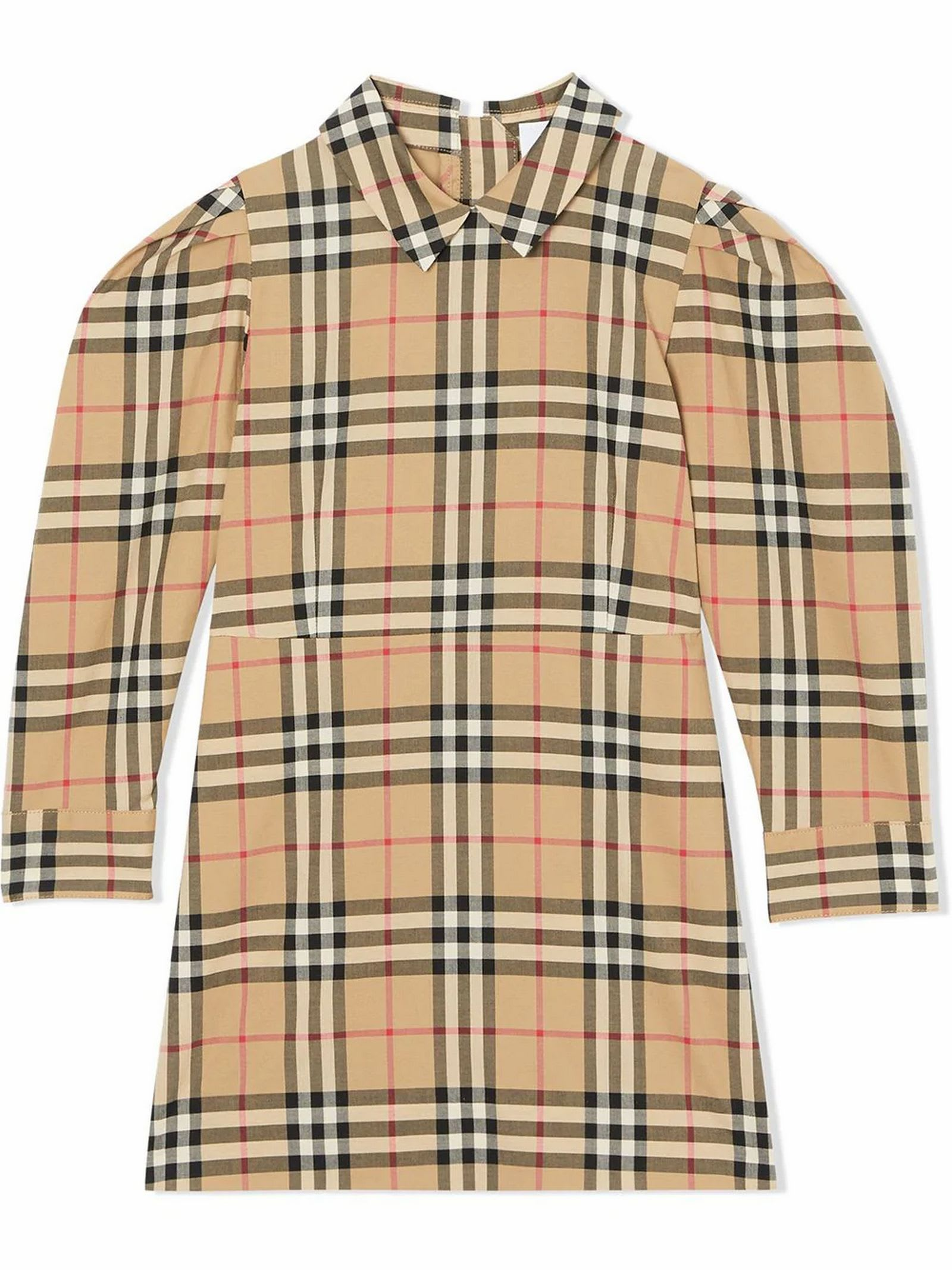 Burberry Puff-sleeve Vintage Check Dress