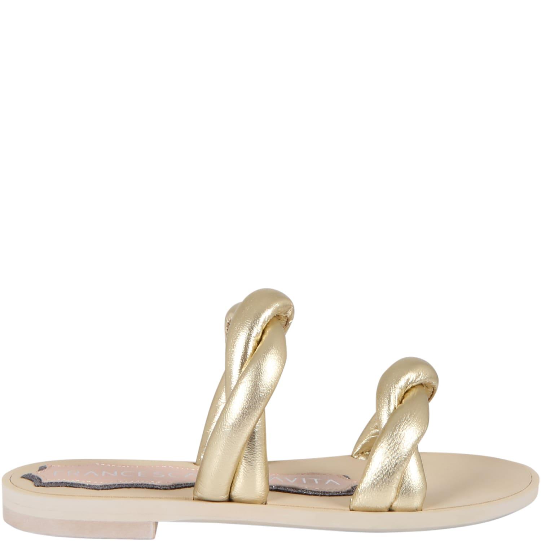Golden Sandals For Girl