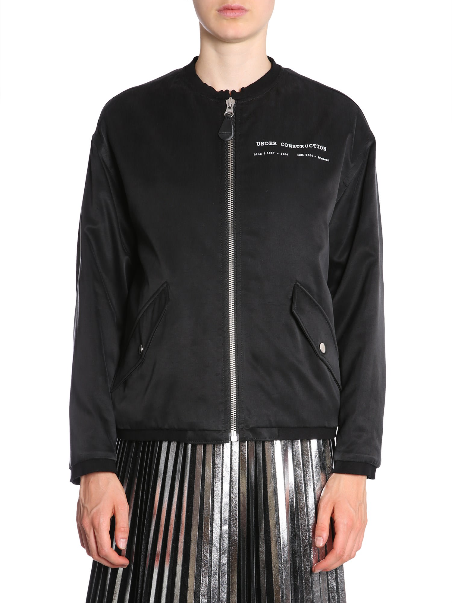 Photo of  MM6 Maison Margiela Heritage Bomber Jacket- shop MM6 Maison Margiela jackets online sales