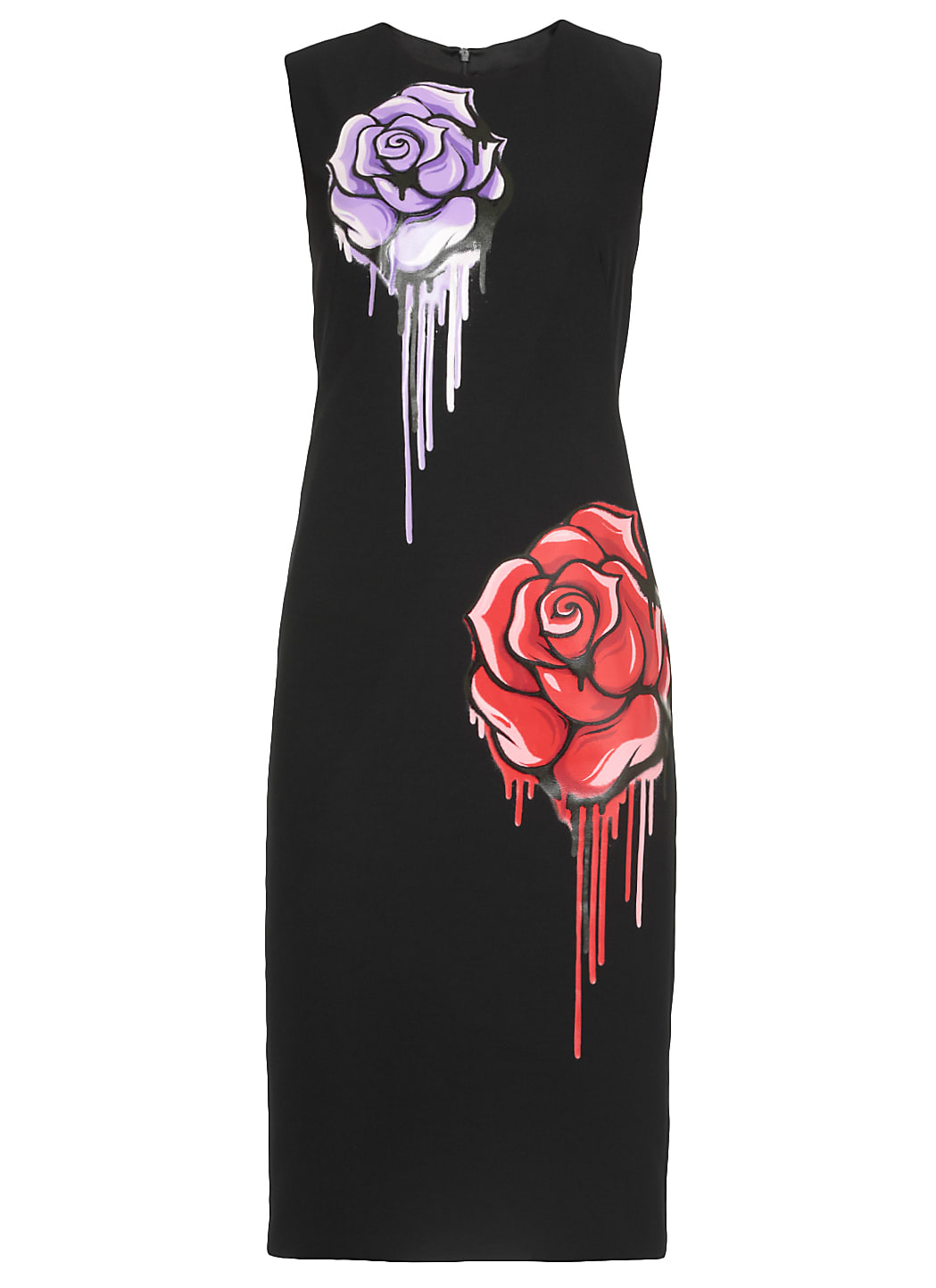 Boutique Moschino Printed Dress In Black