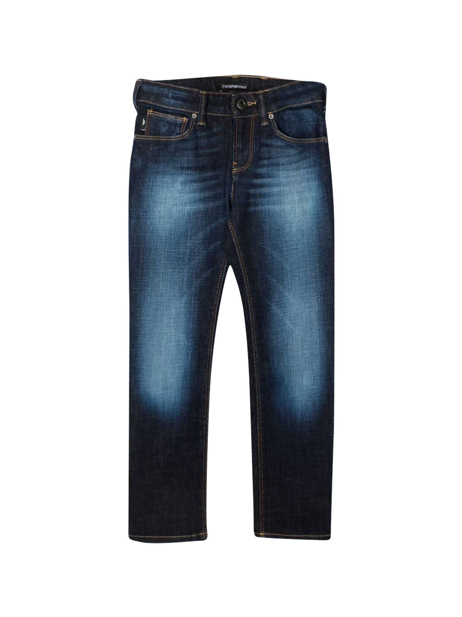 Emporio Armani Cottons BLUE TEEN JEANS