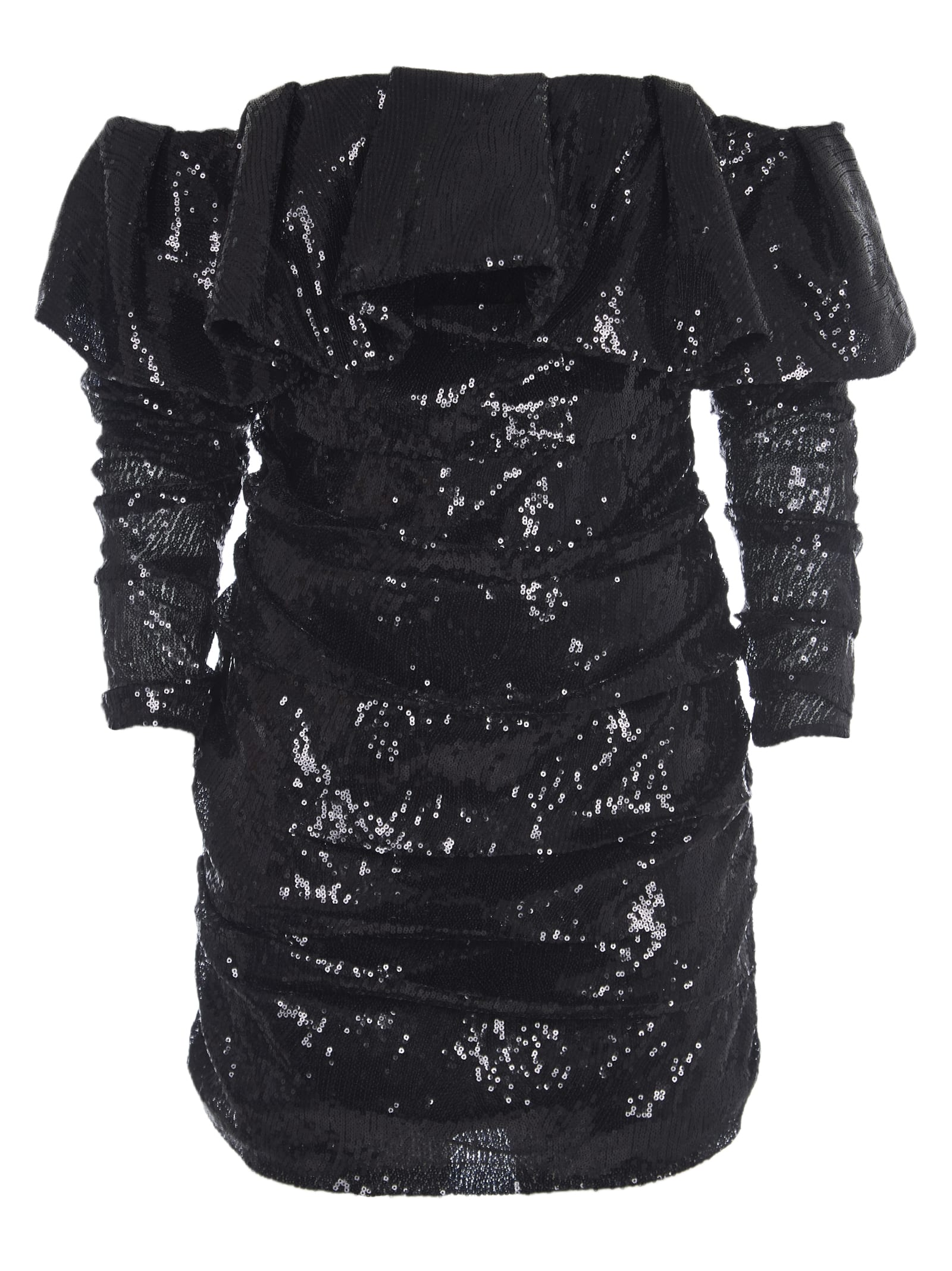 The Attico Black Sequins Dress