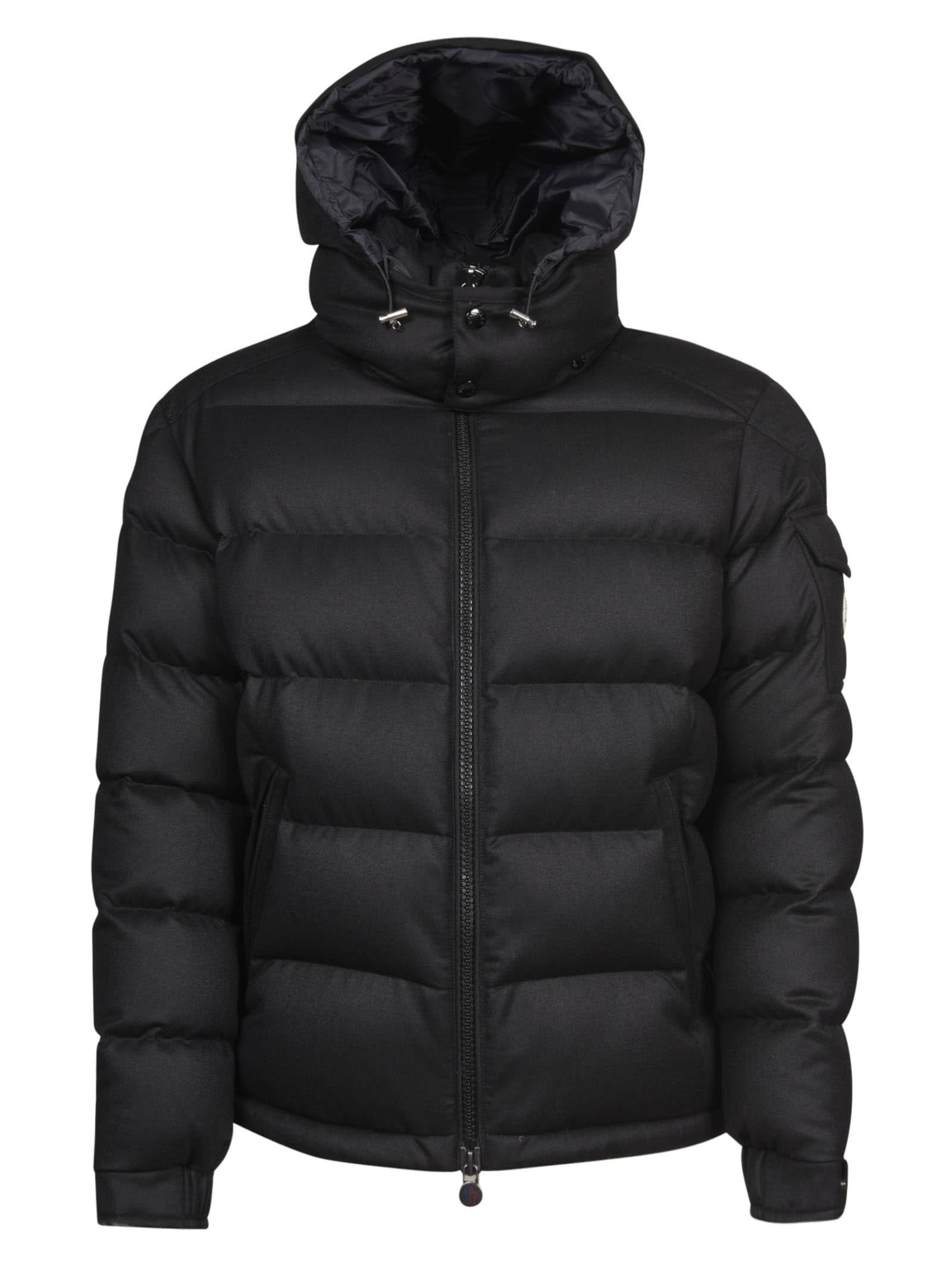 Moncler High Drawstring Hood Zipped Padded Jacket