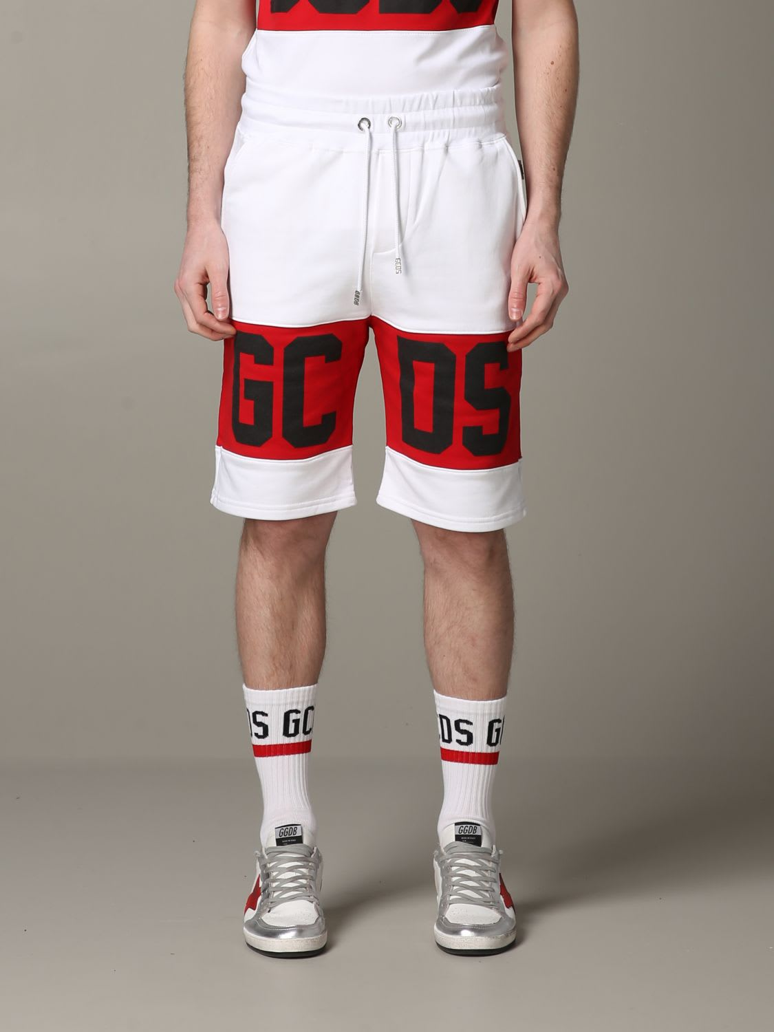Gcds Short Gcds Jogging Shorts With Contrasting Band And Logo