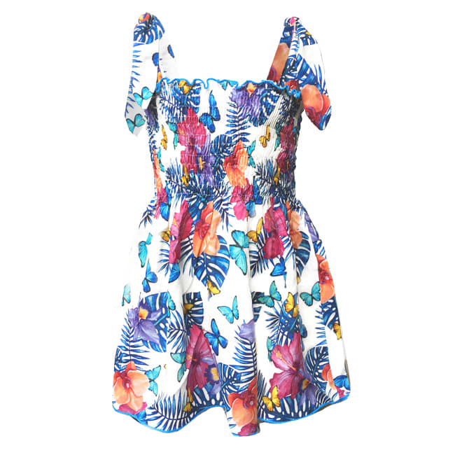 Buy MC2 Saint Barth Girls Dress Butterfly online, shop MC2 Saint Barth with free shipping